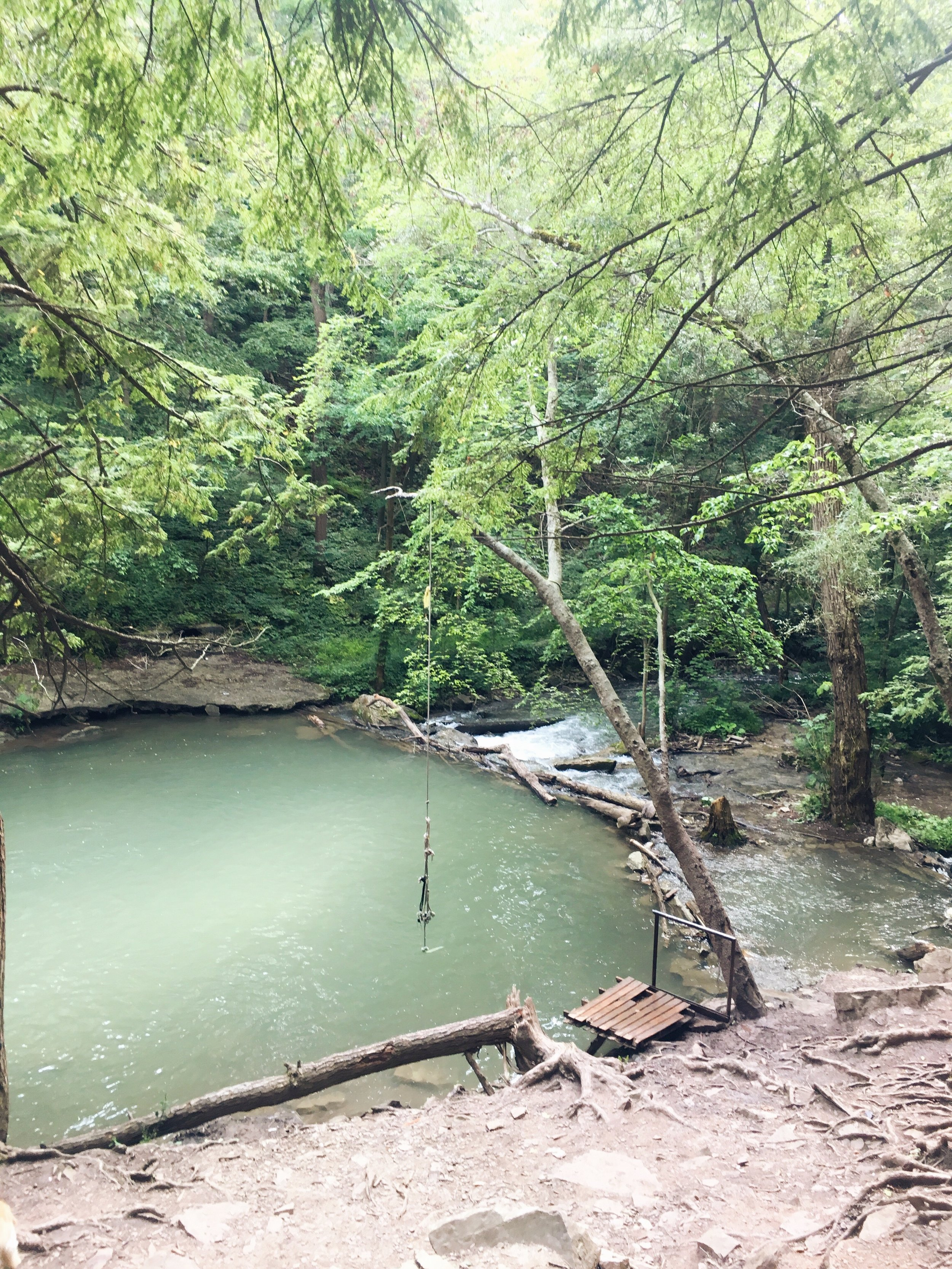 The Swimming Hole - your first 'destination' during the long way to DeCew Falls