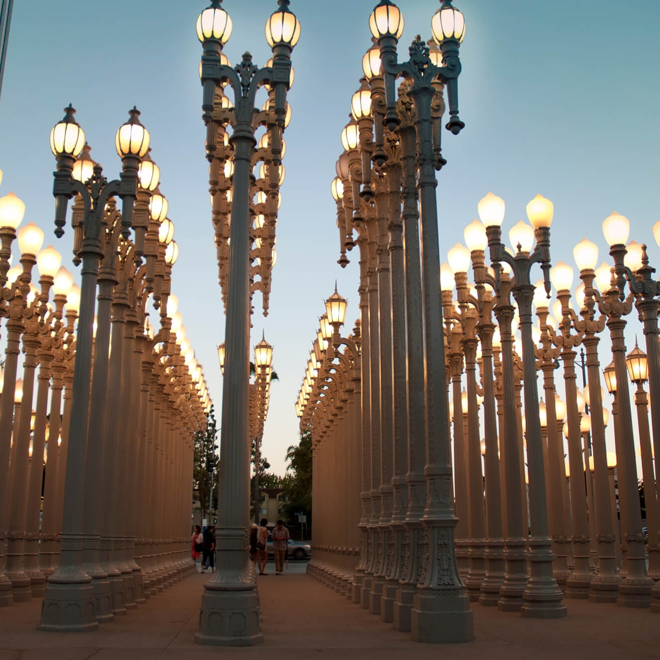Urban Light Installation at the LACMA