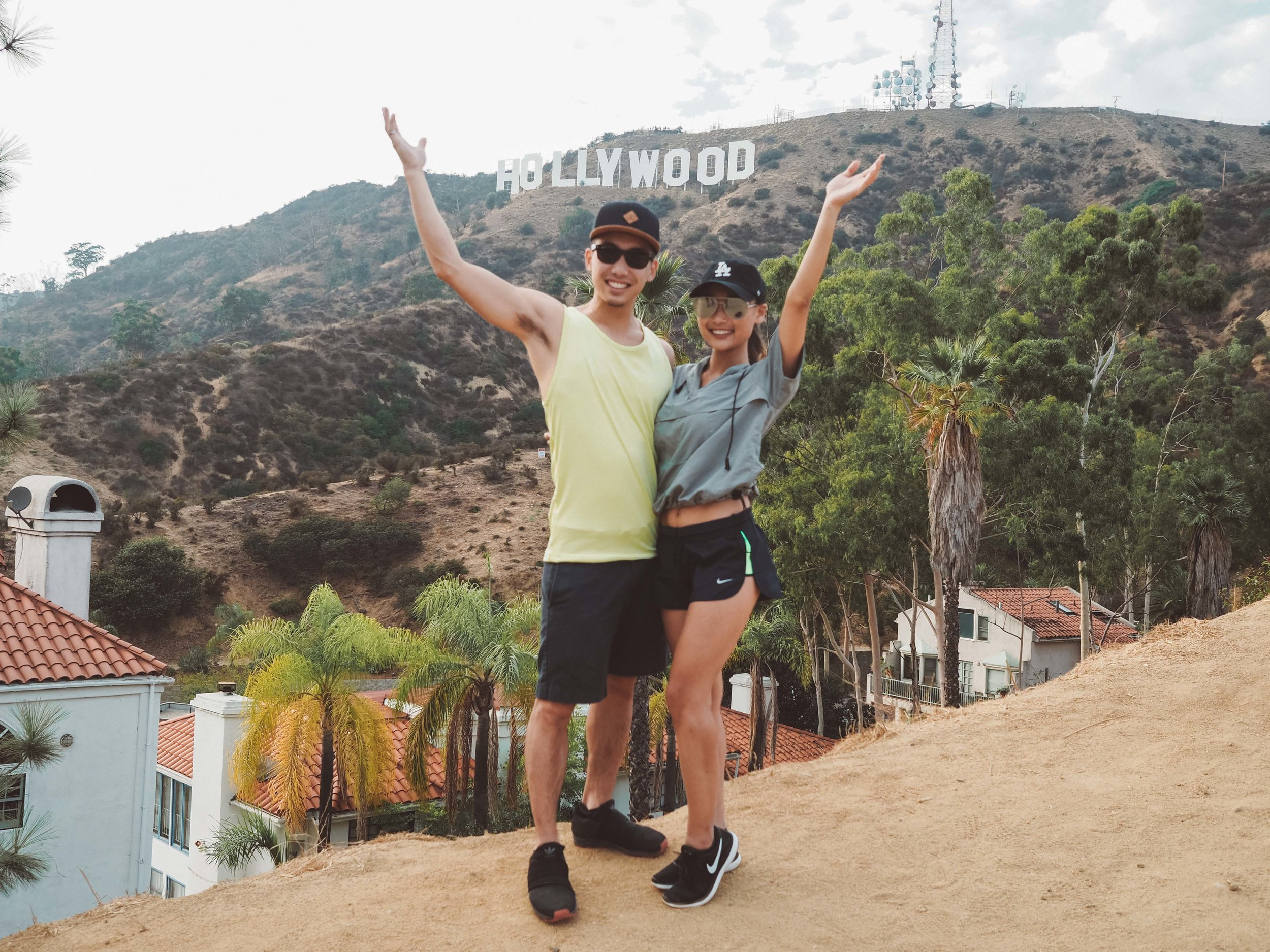 Scenic point 1: Front of the Hollywood Sign