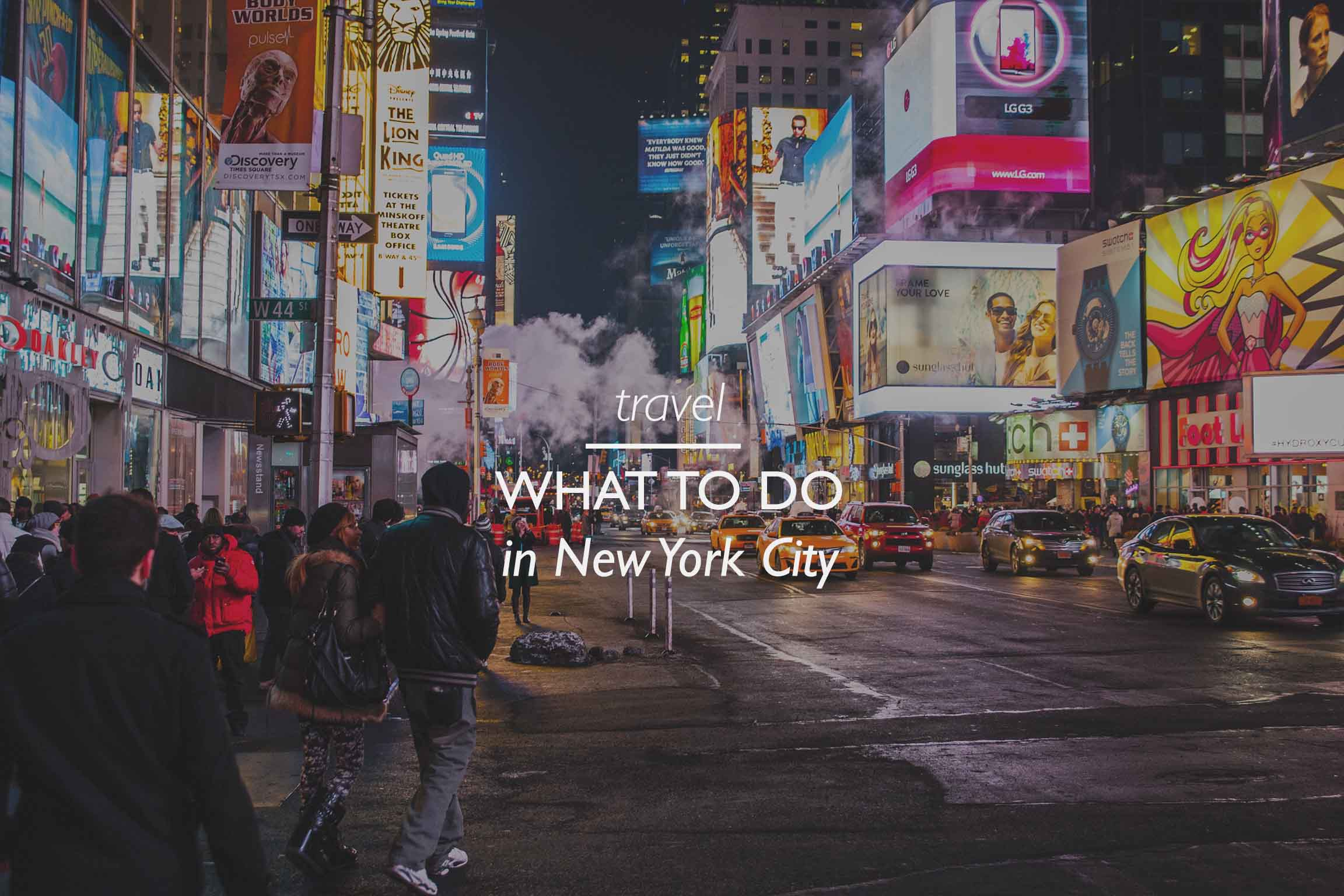 NYC Attractions and Things to do
