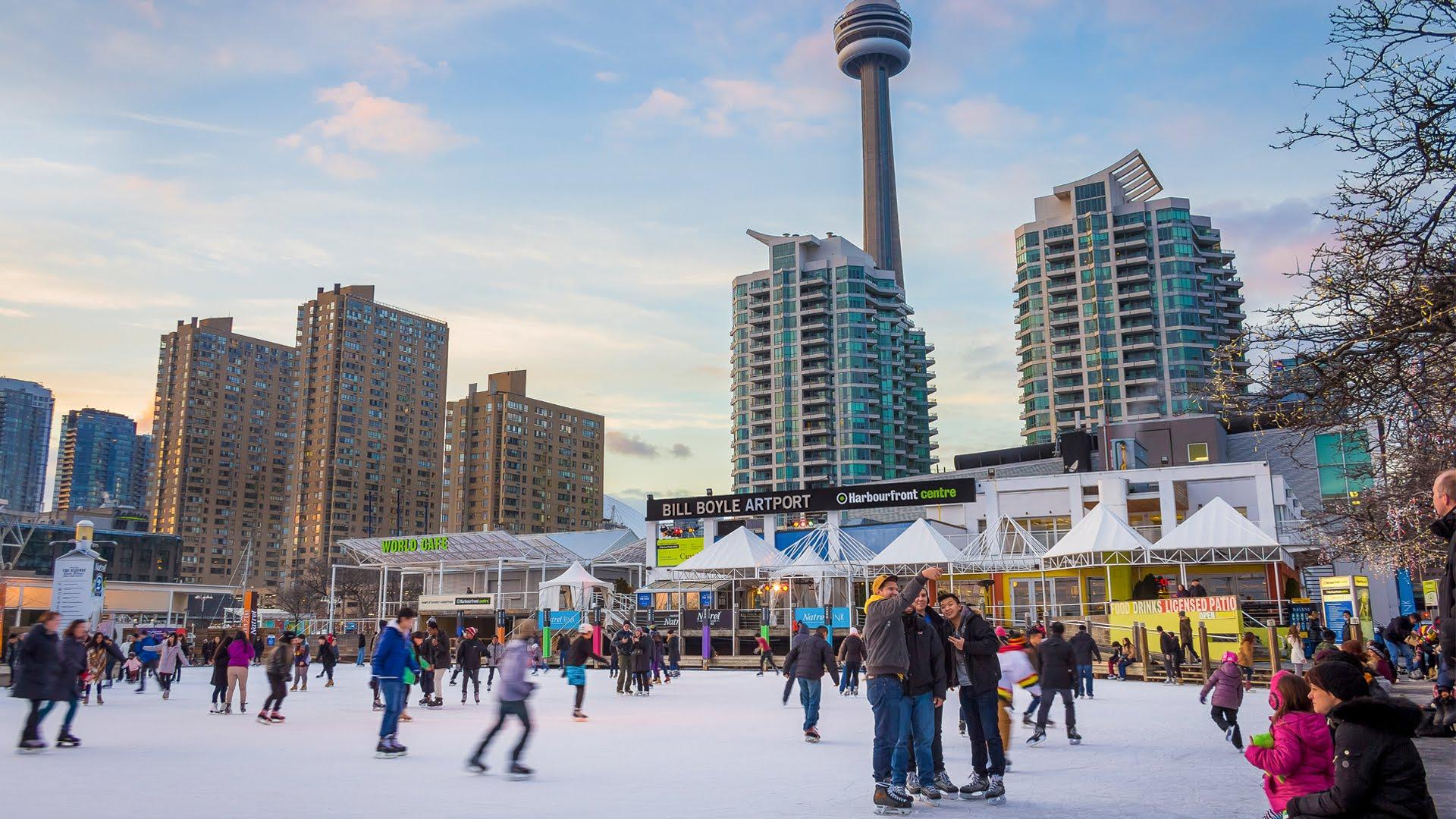 Skating at Harbourfront
