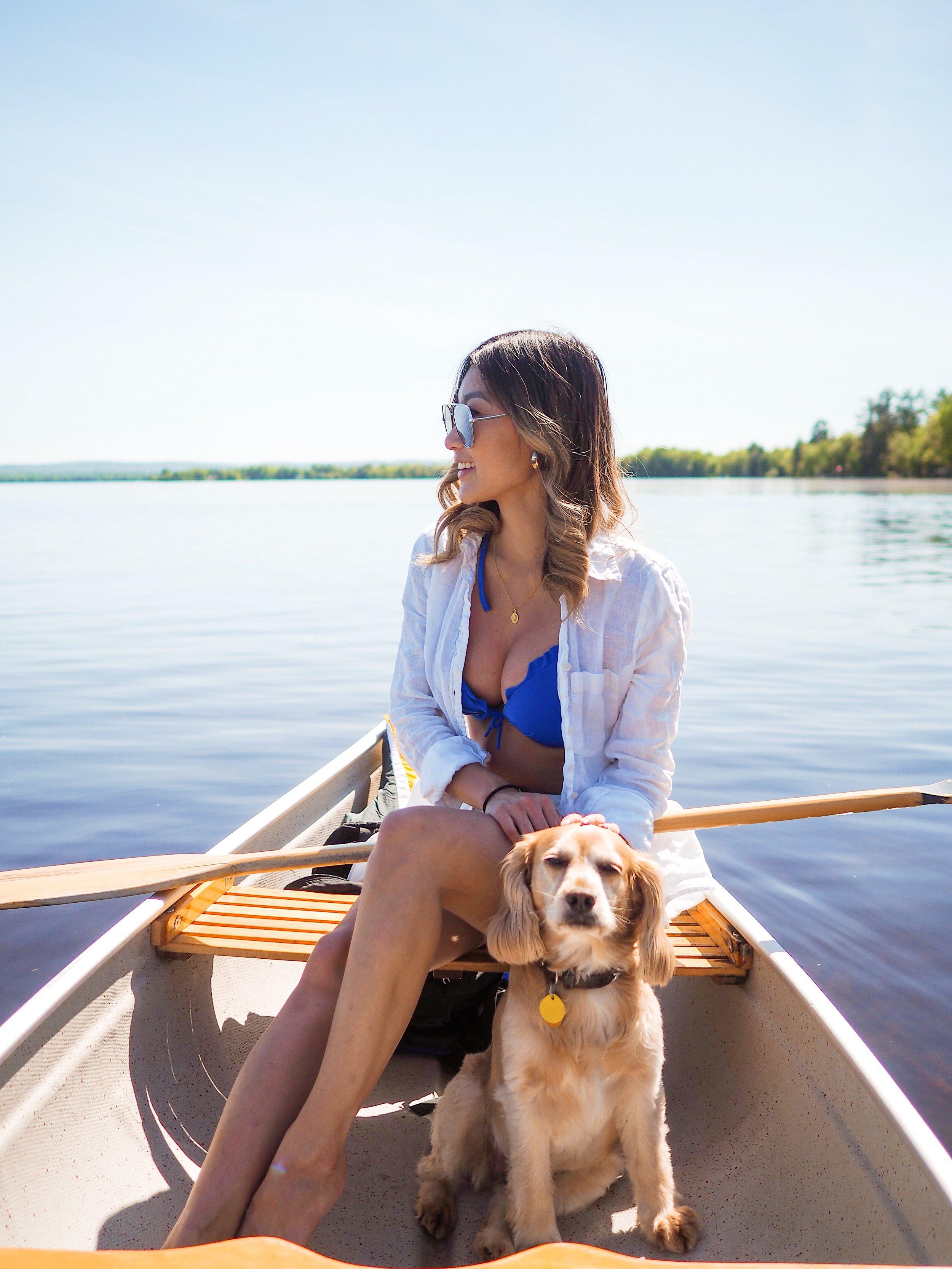 Canoeing on Golden Lake