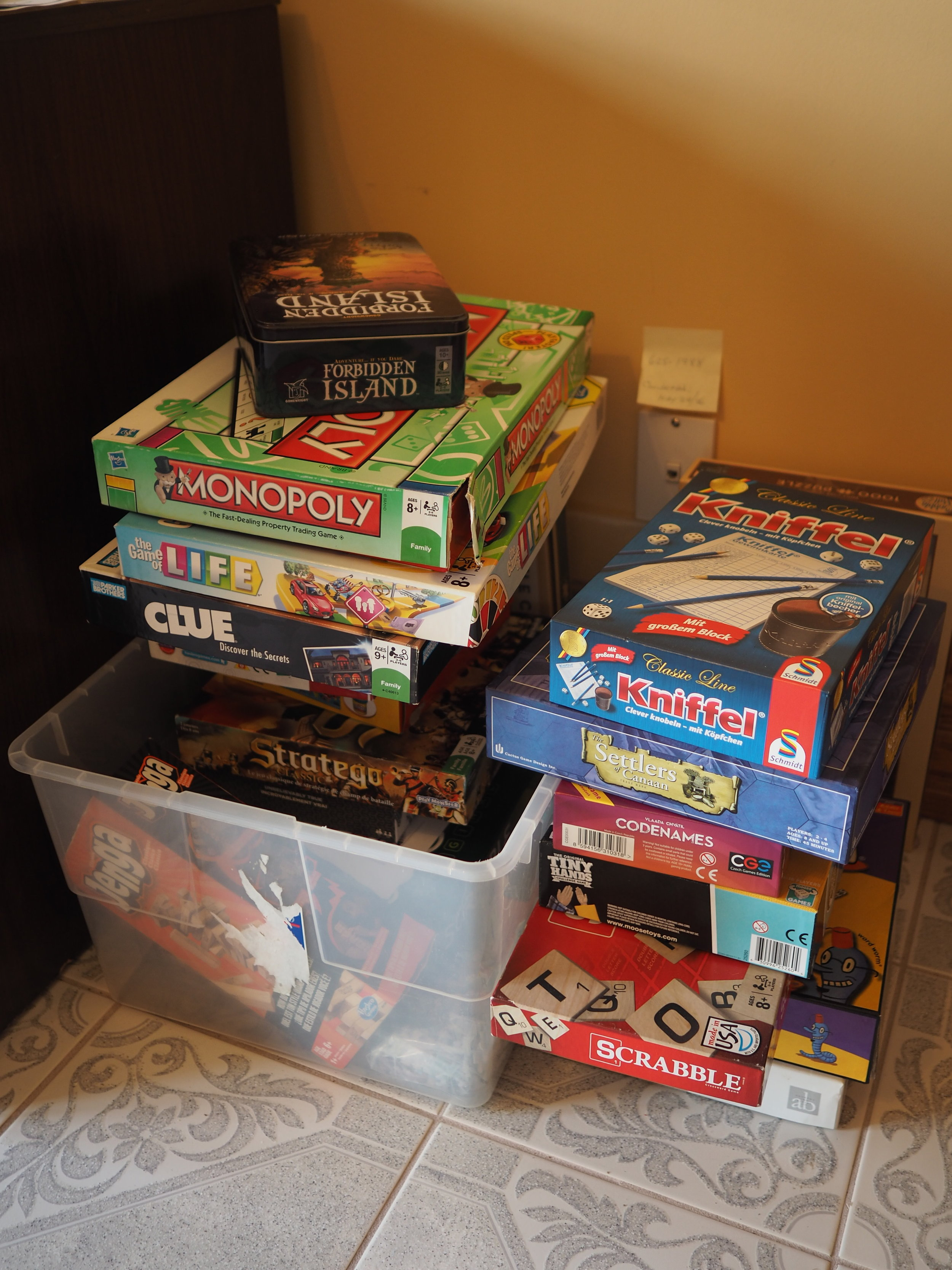 Board games in the main house