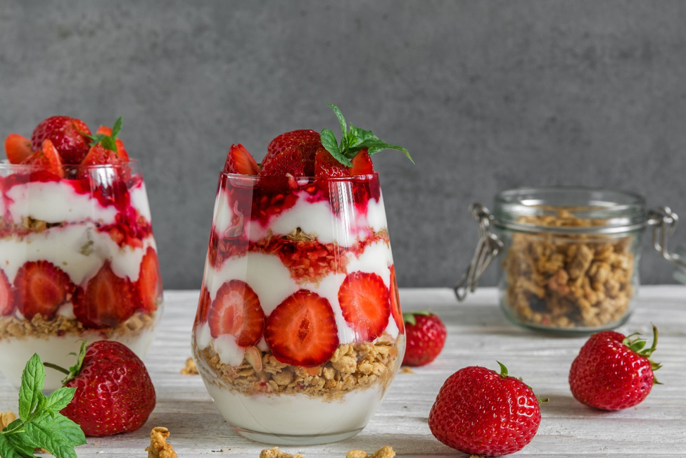 Strawberry Parfait - Try our Strawberry Parfaits - two great, easy ways to add something sweet to the menu.