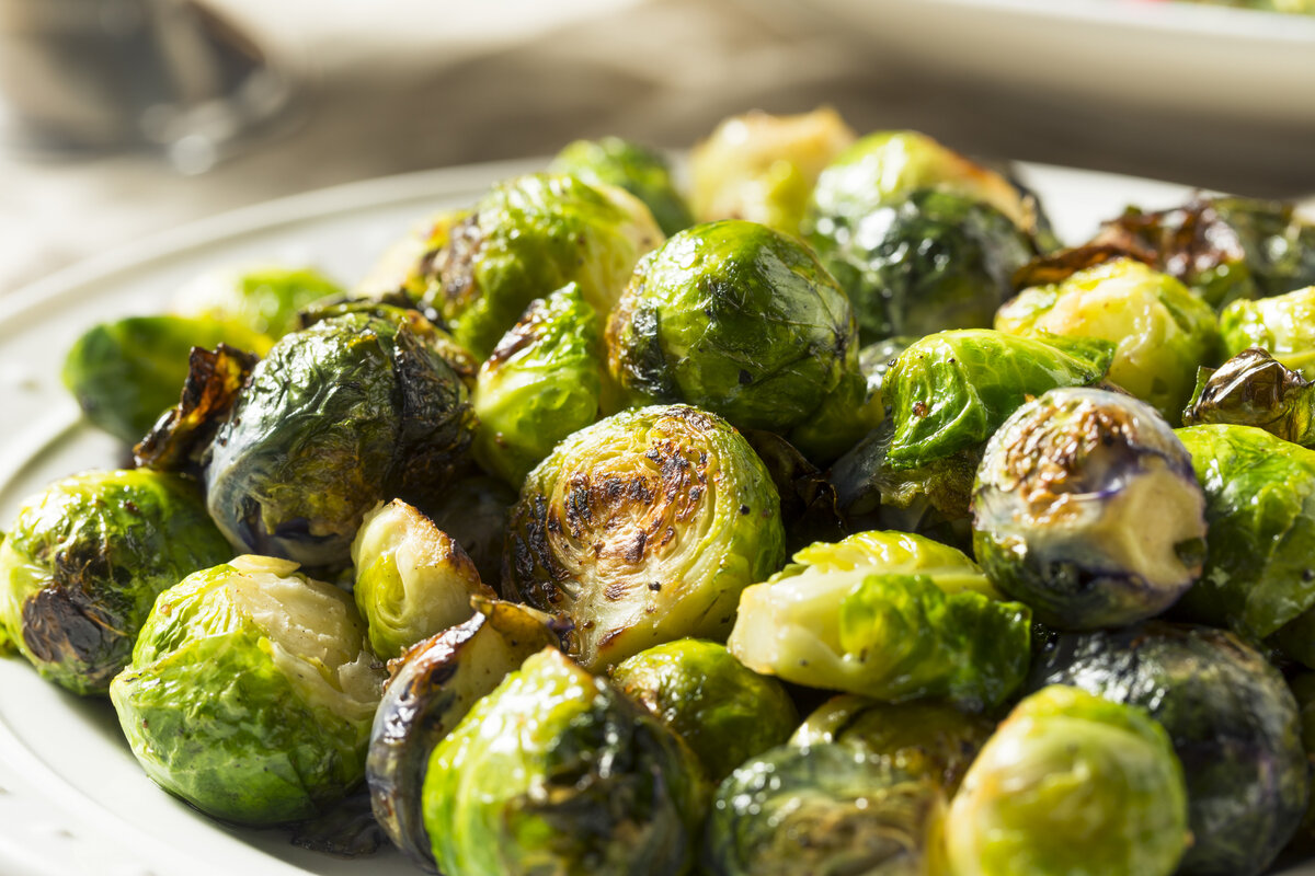 Roasted Brussel Sprouts - There are many ways to prepare and serve this versatile little cabbage, but perhaps the quickest, simplest and tastiest is to just roast them.