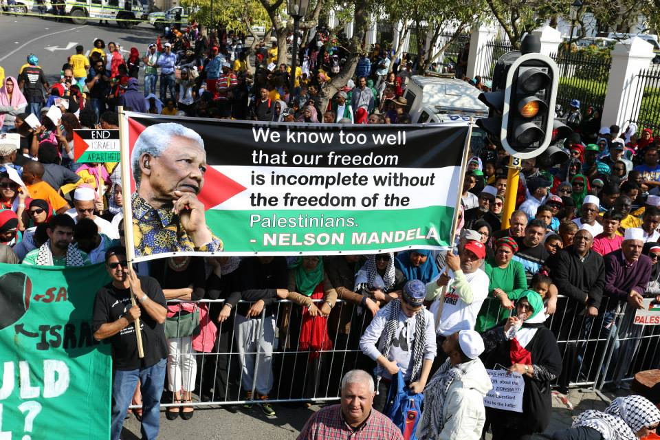 Pro-Palestinian activists in South Africa
