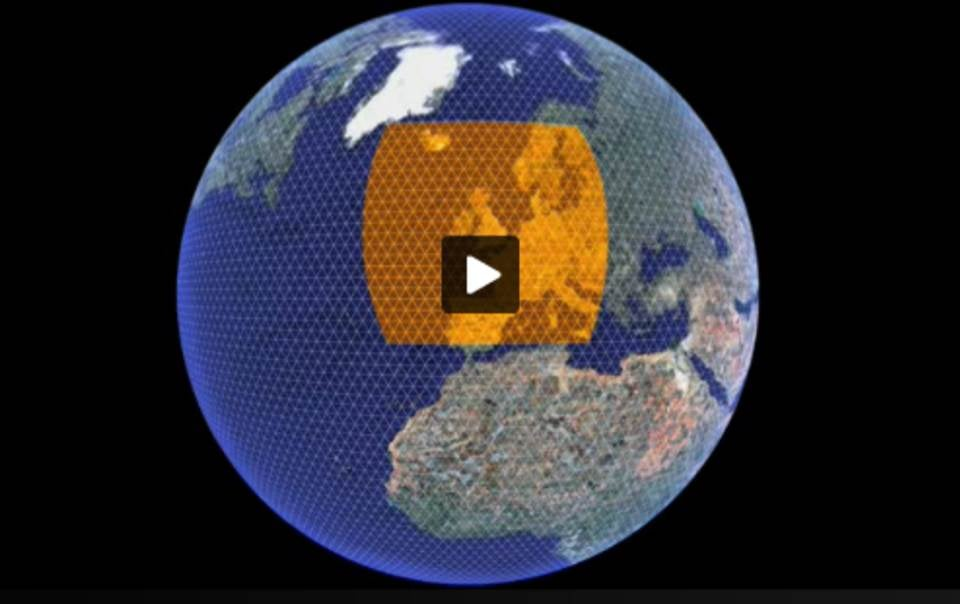 A 'patch' of the global carbon quilt over Great Britain