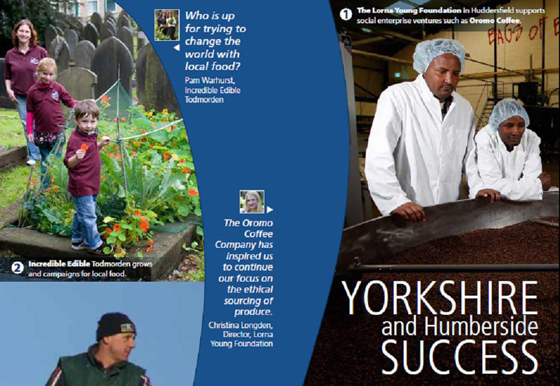 Cover of the Pictures of Success poster/leaflet for Yorkshire and Humberside