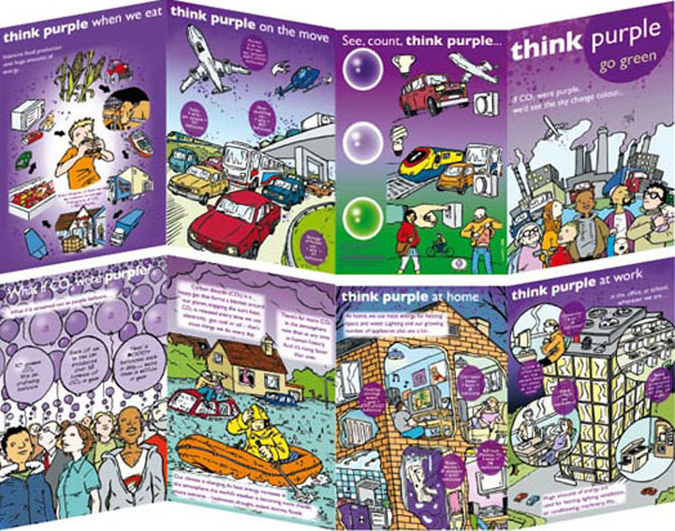 Think Purple leaflet