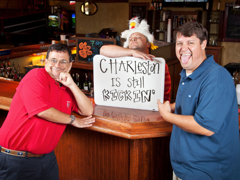Left to right: Kickin' Chicken owners David Miller, Bobby Perry and Chip Roberts  (photo sourced through http://www.kickinchicken.com/kickin-culture)