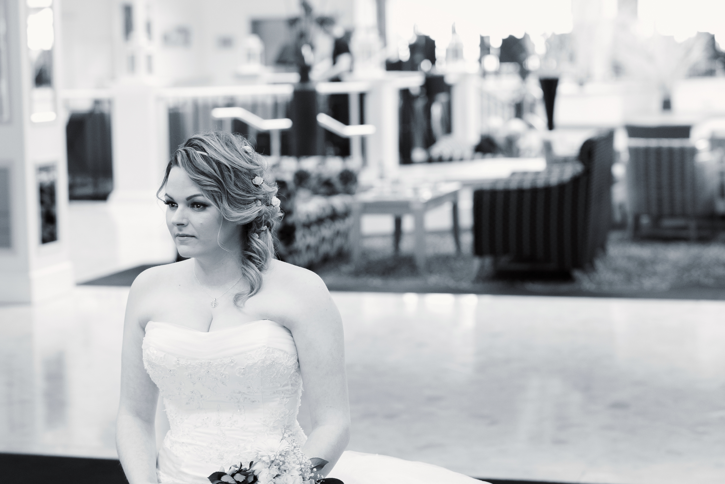 Bride in black and white, Waterfront Hotel Brighton