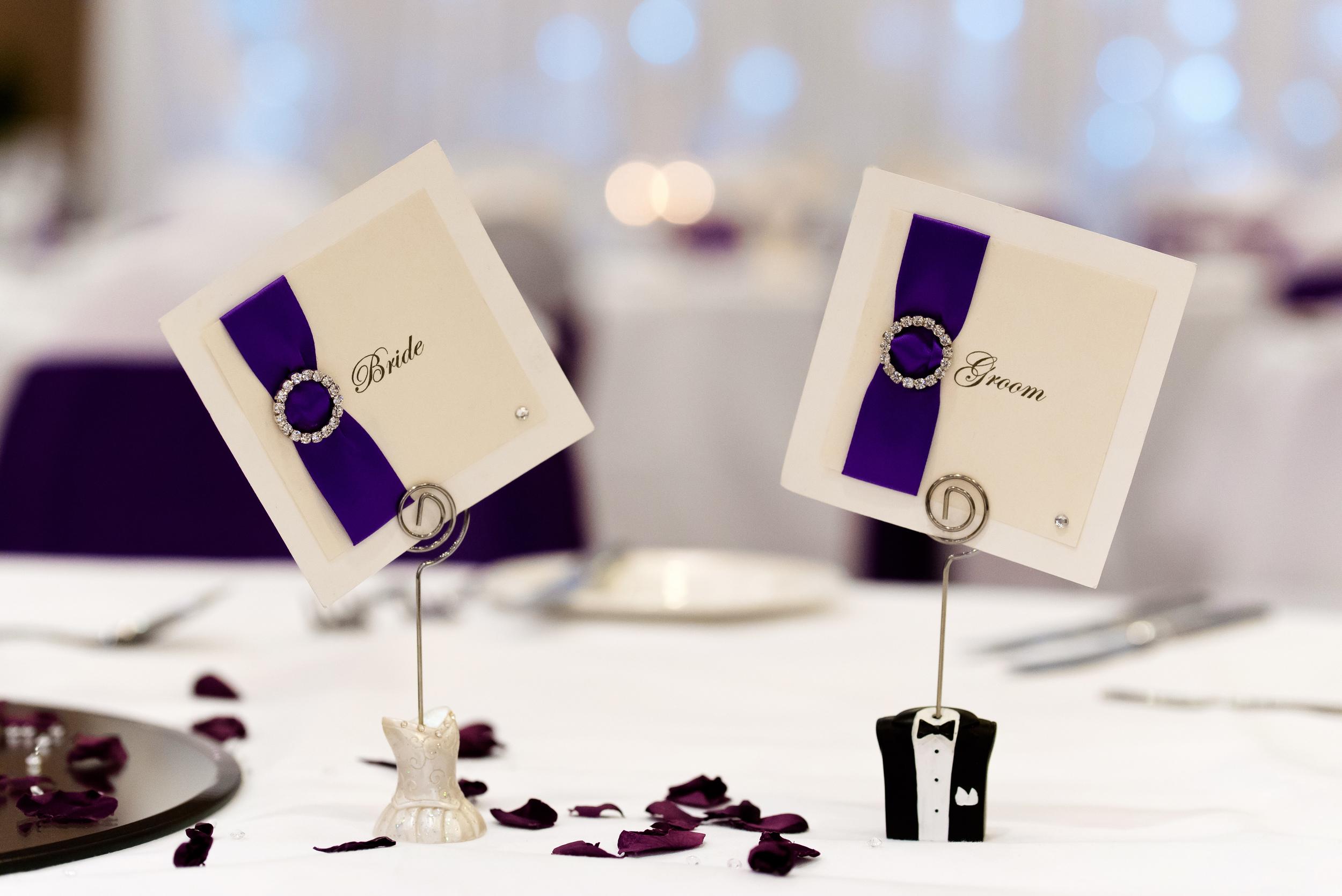 Wedding table detail, Waterfront Hotel Brighton