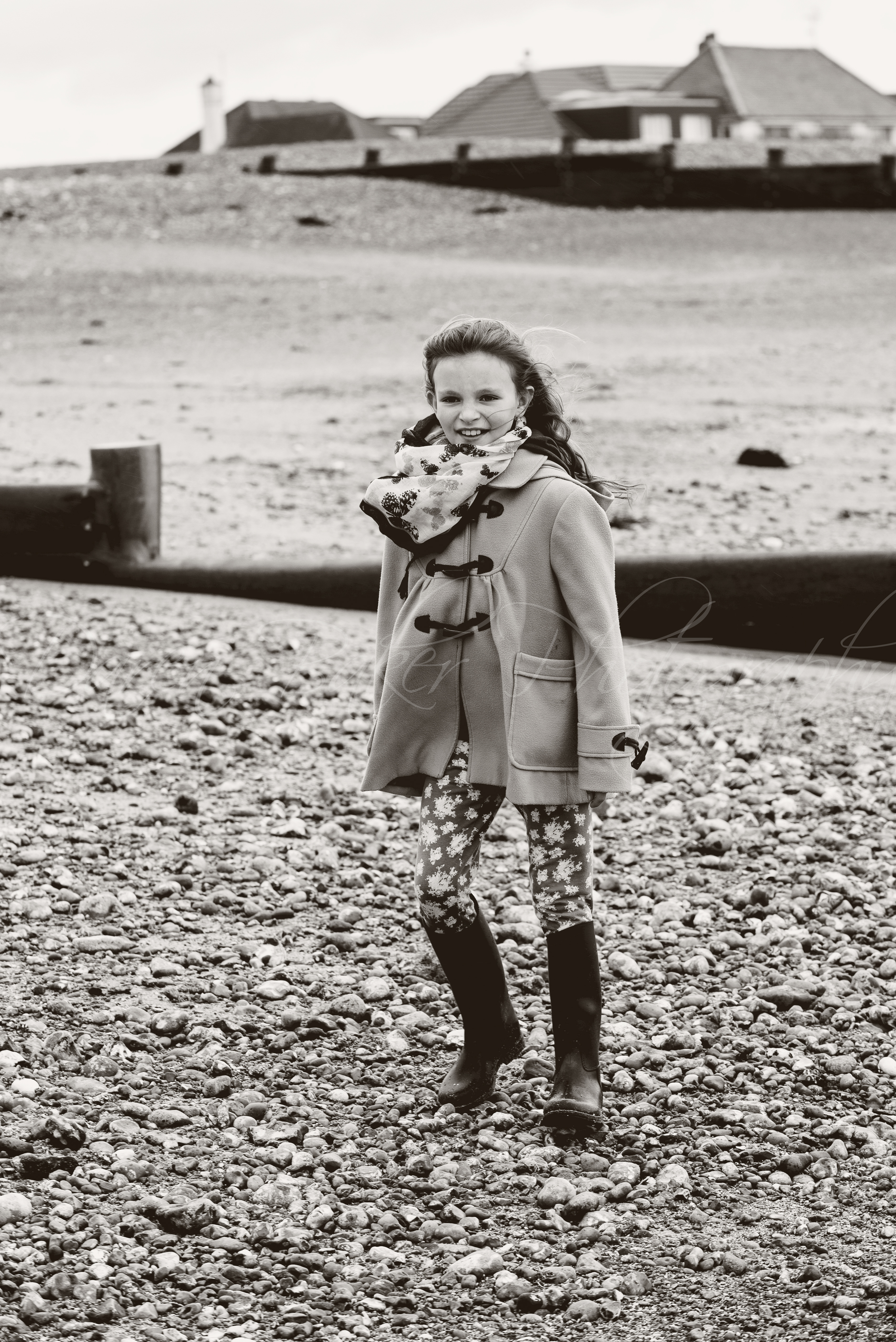 Child portrait, black and white, Ferring Sussex