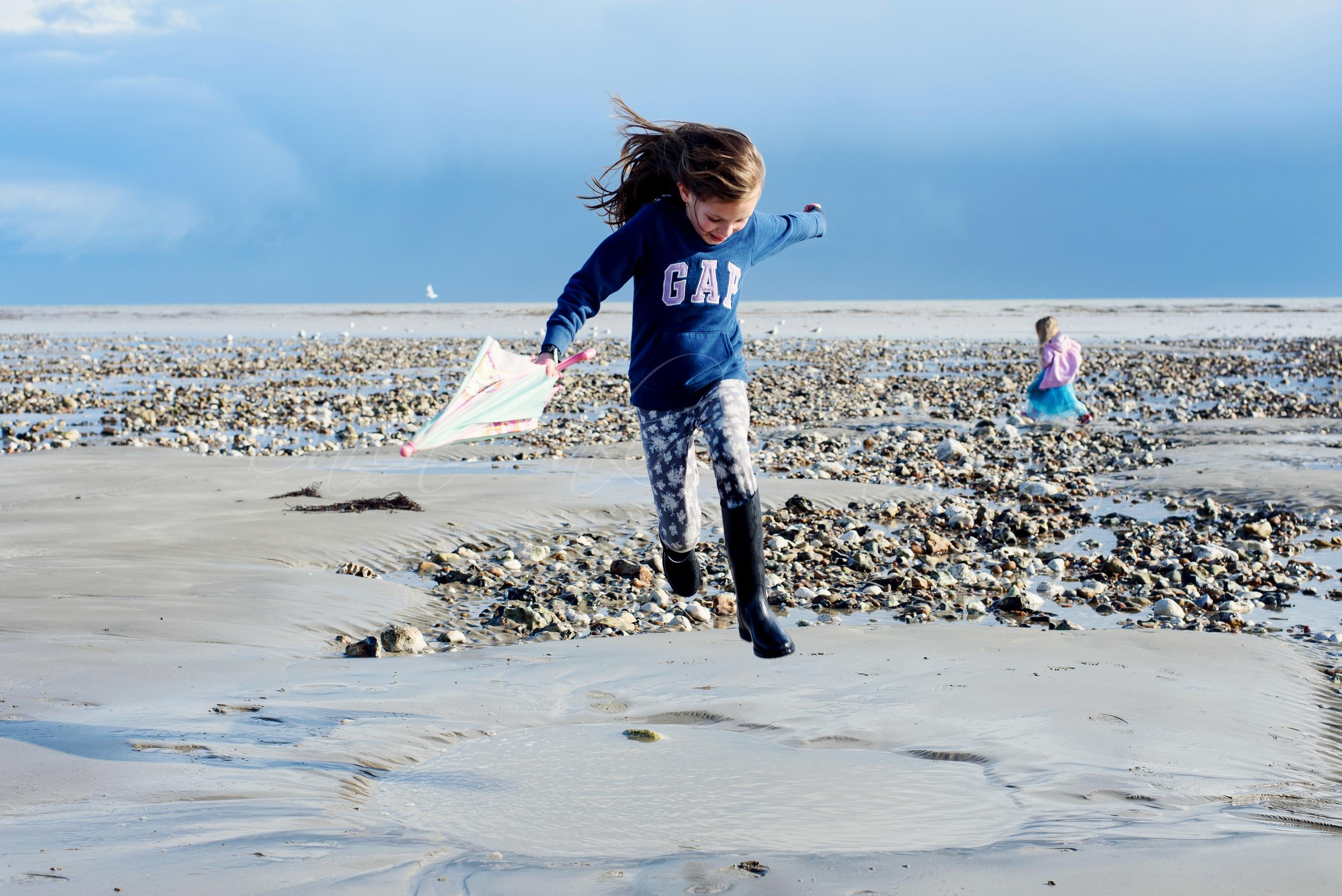 Running on Ferring Beach, Sussex