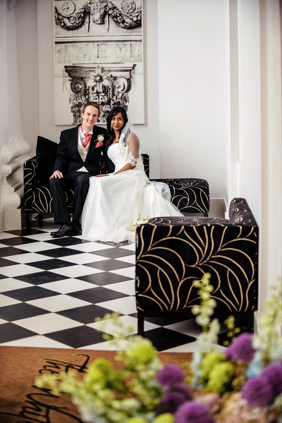 Bride and groom, wedding Windsor
