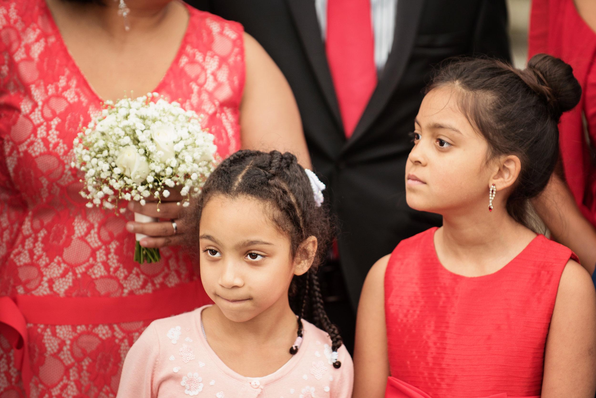 Bridesmaid in red, wedding Windsor