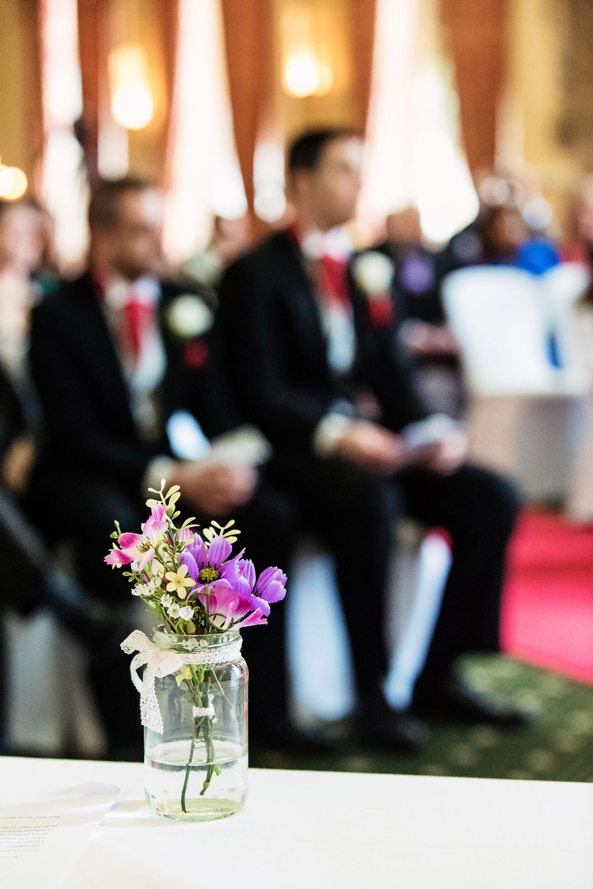 Flower detail, wedding Windsor