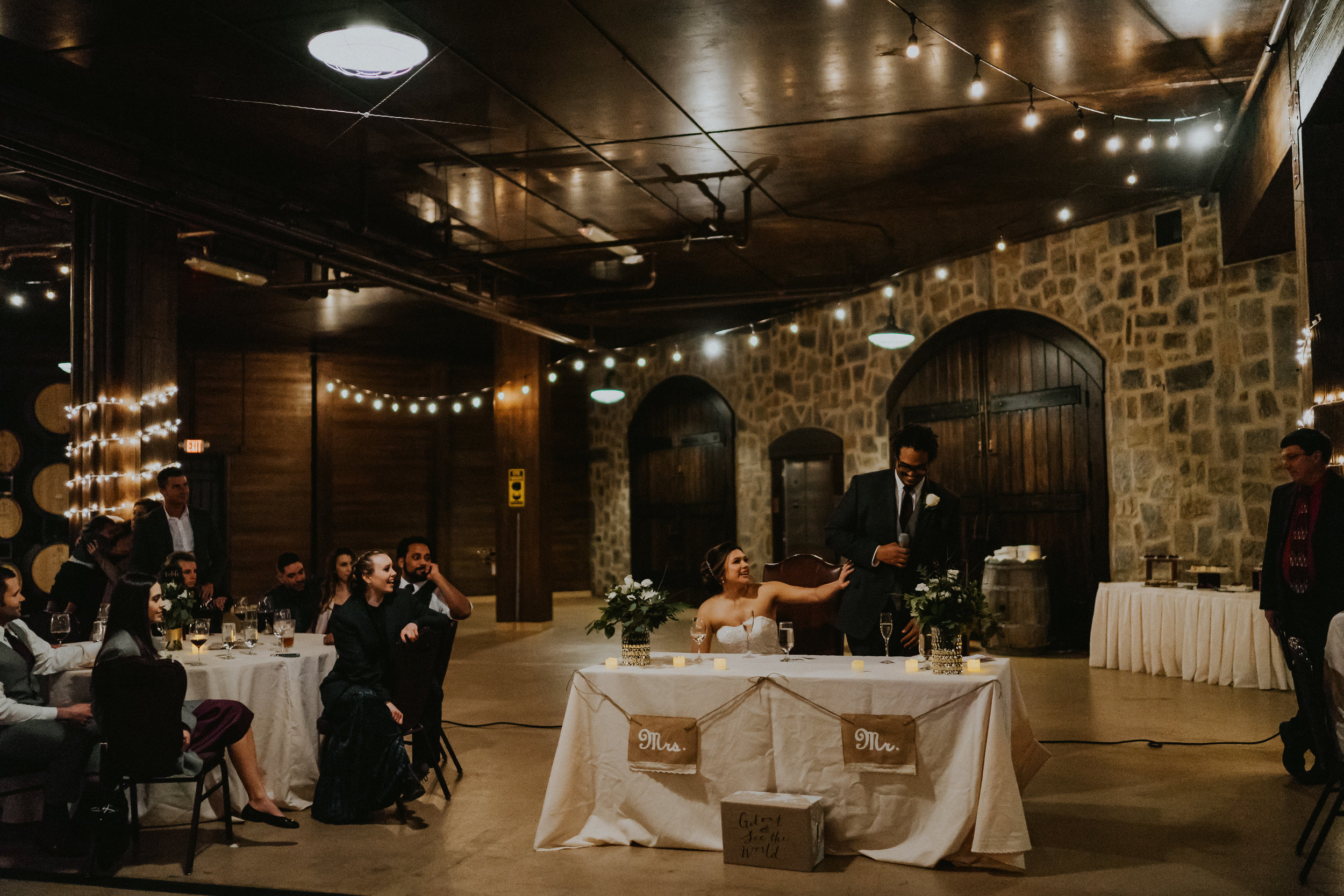 Swiftwater Cellars Winery Sweetheart Table