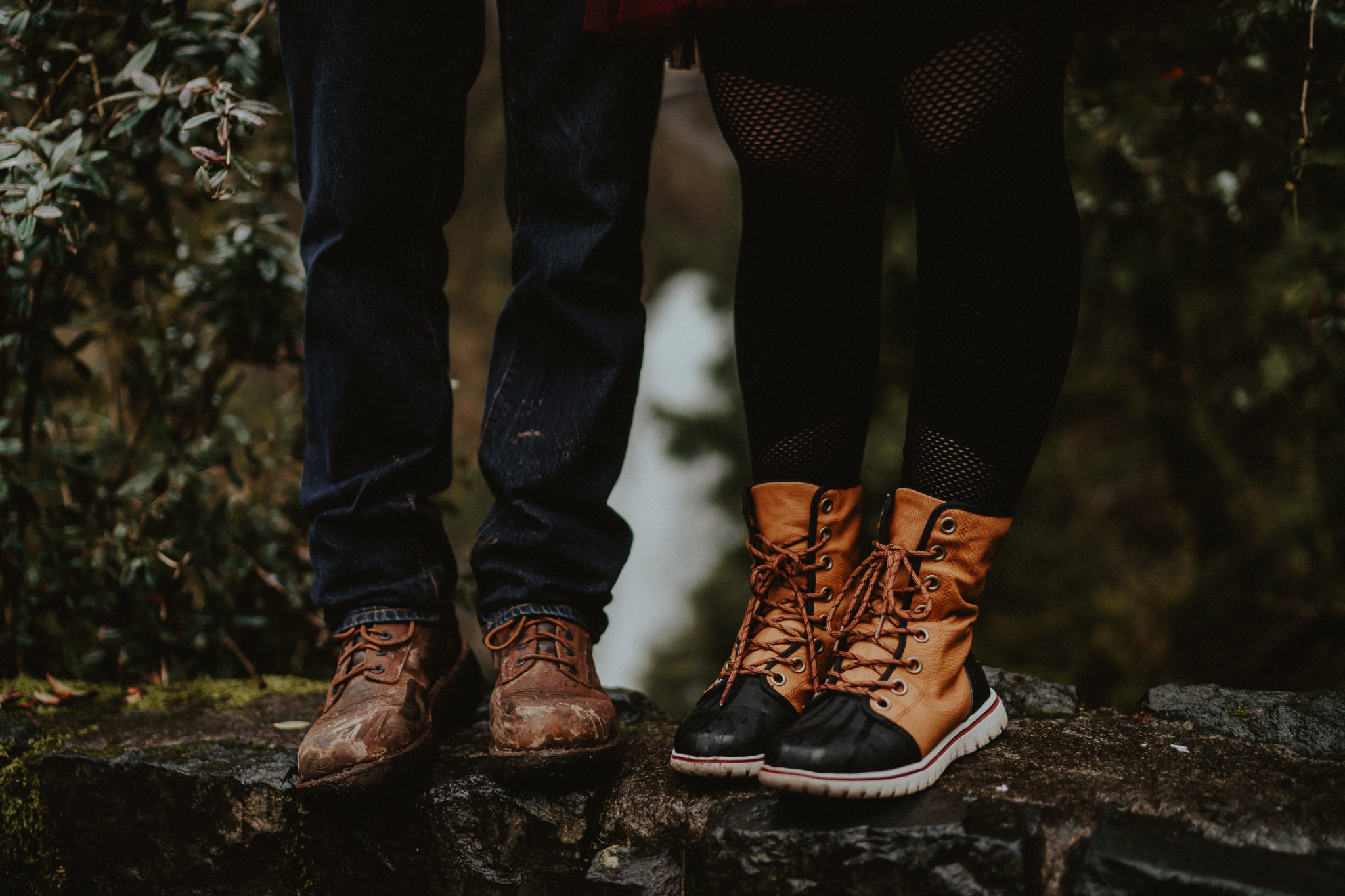 Cute boots engagement photographer