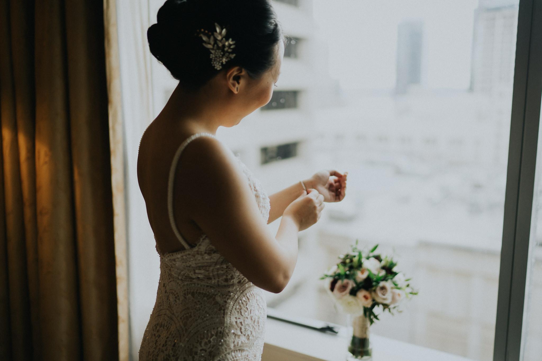 Bridal portrait Seattle Wedding Hilton Olive 8