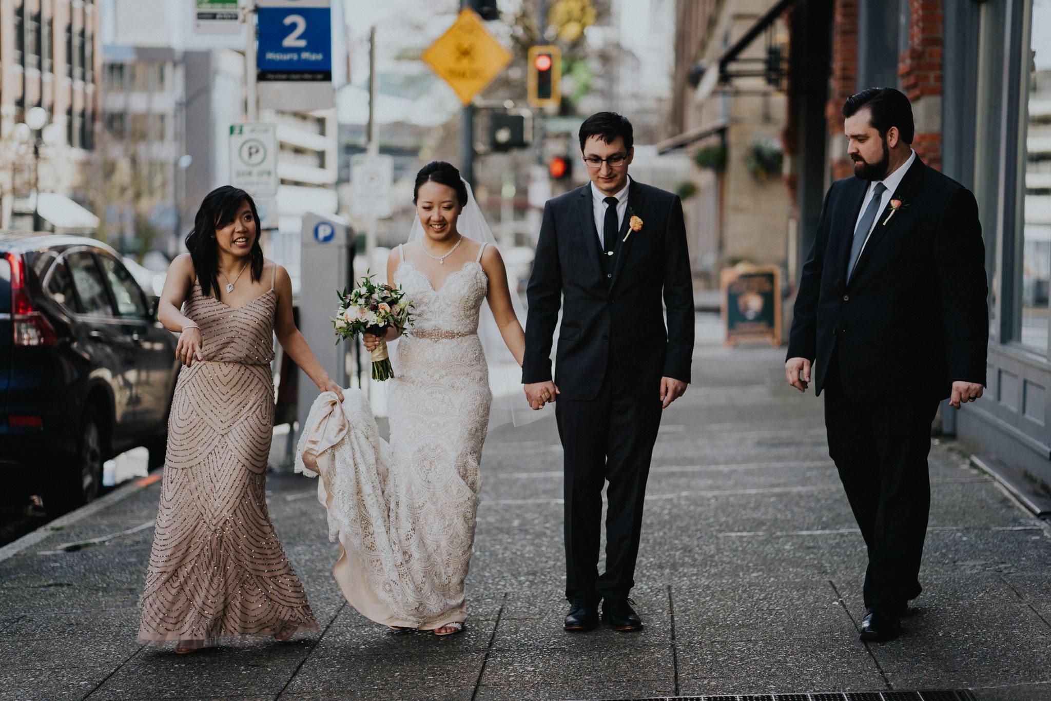 Wedding Party City Walk Alfred Tang Weddings