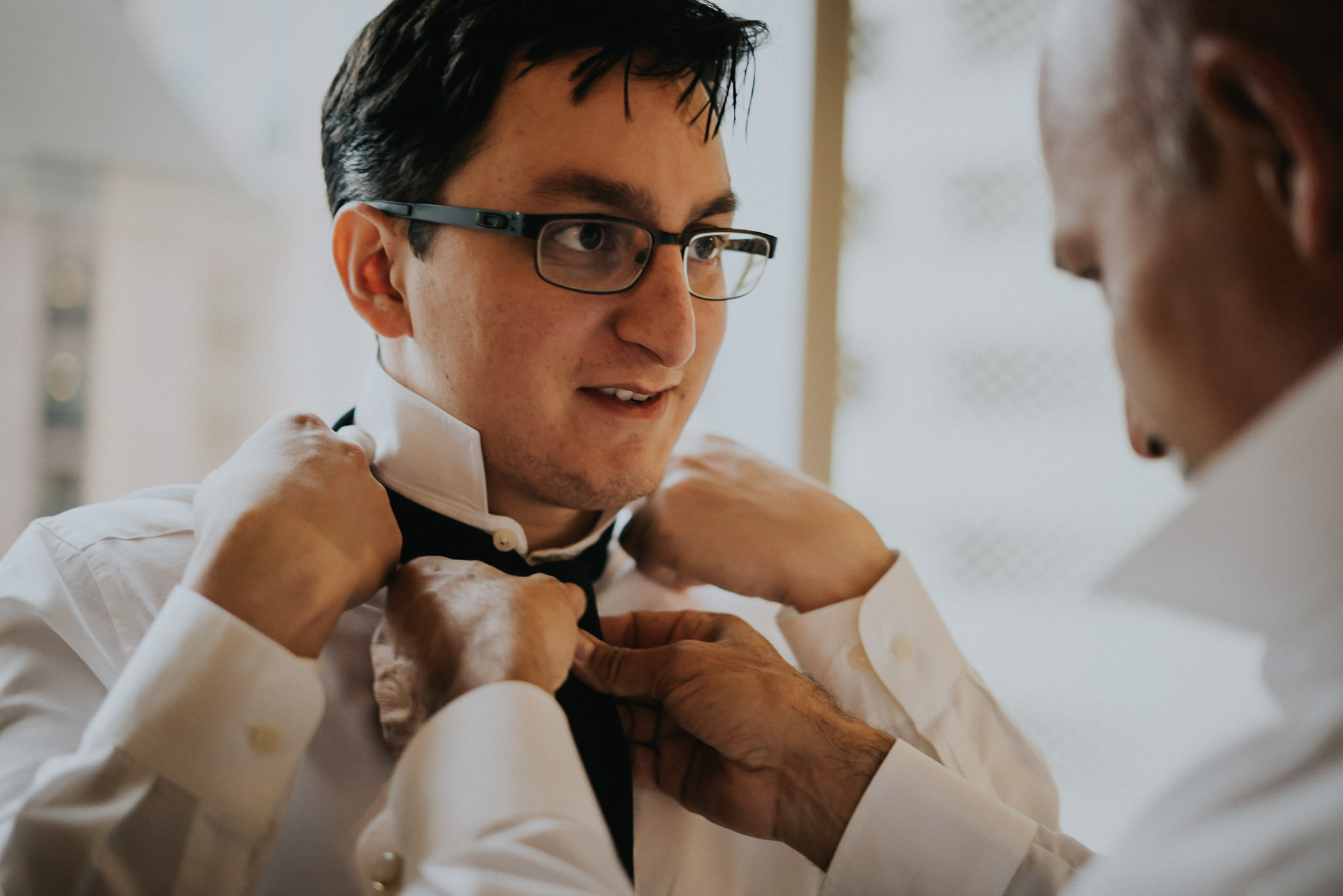 Father Groom Getting Ready