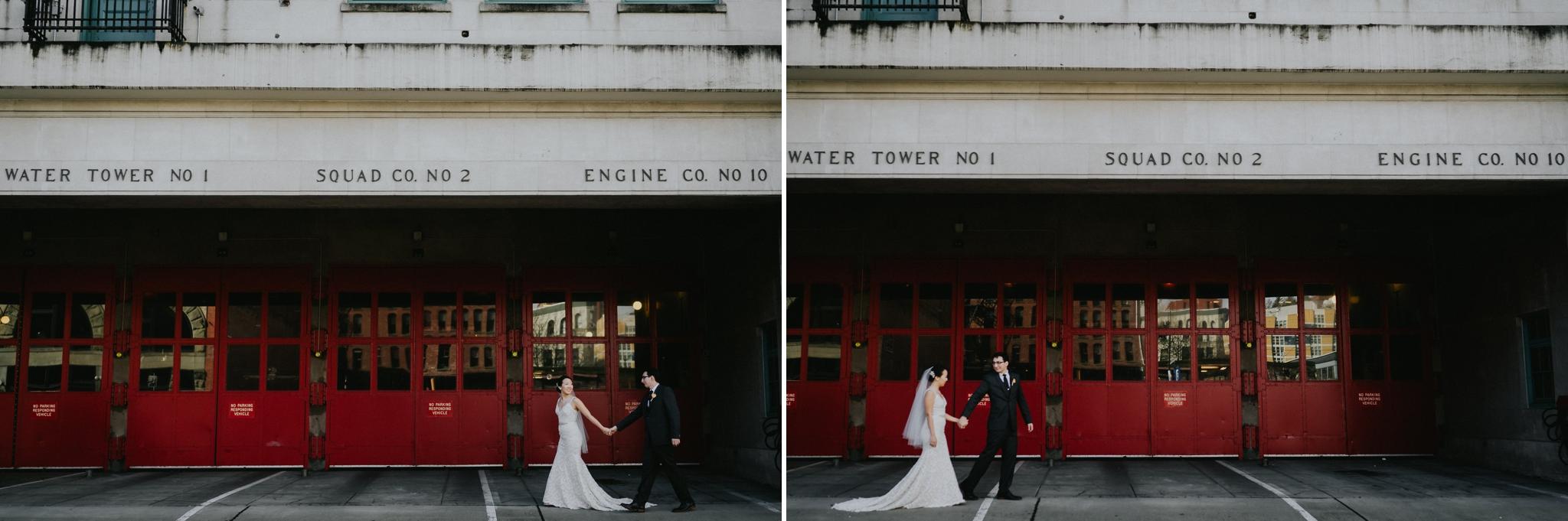 Seattle Wedding Photographer Fire Department Station