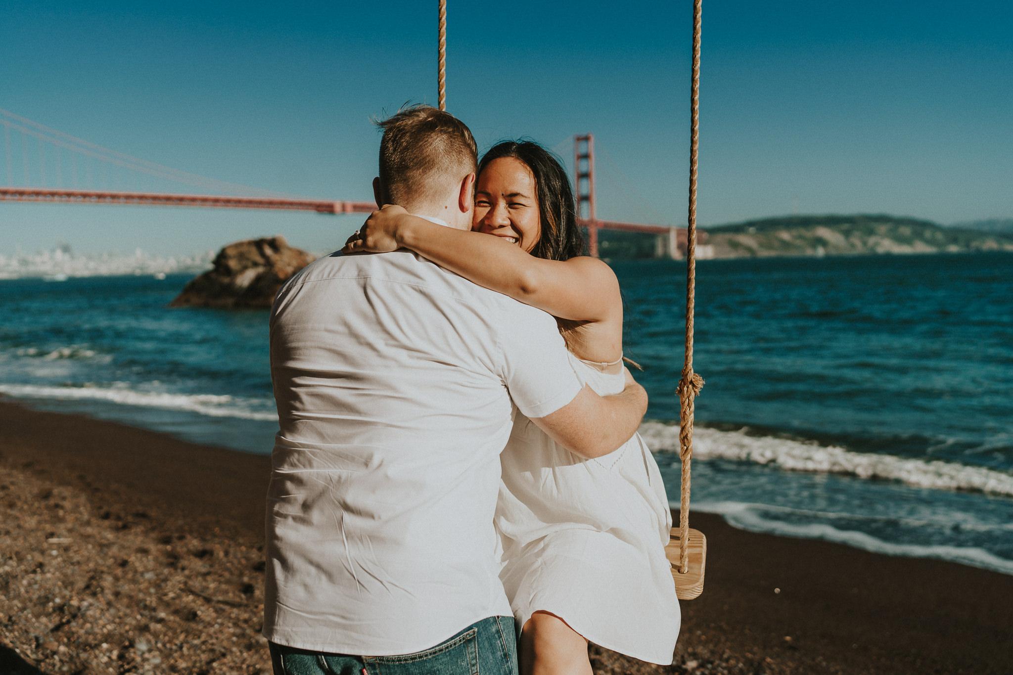 Engaging Hug Wedding Photographer
