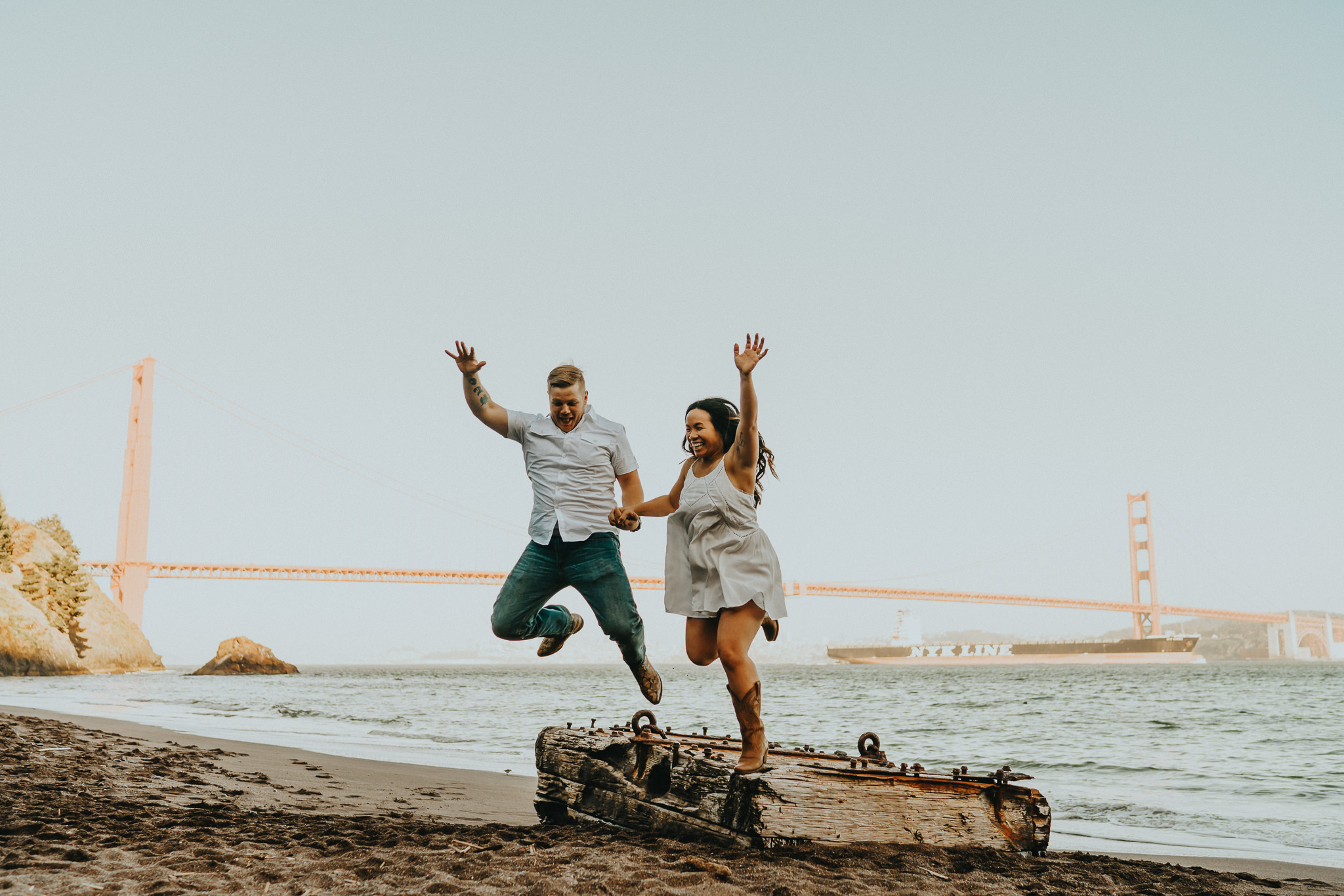 Jump Golden Gate Wedding Photographer