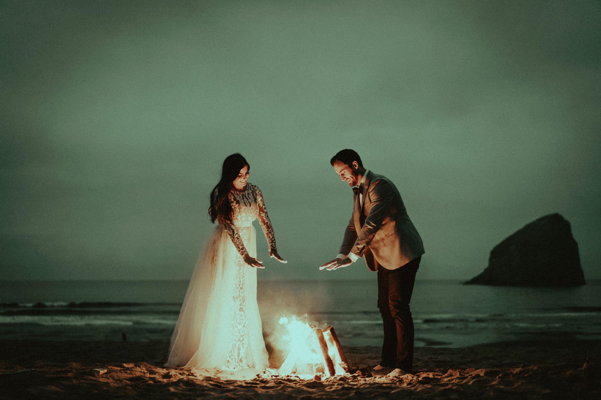 Beach-Bonfire-Elopement-Photographer