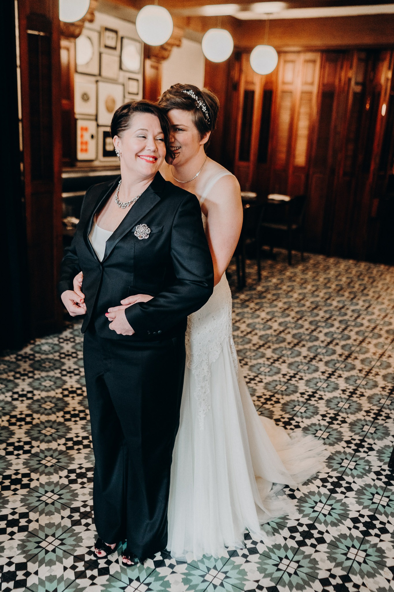 Seattle Hotel Lesbian Wedding First Look