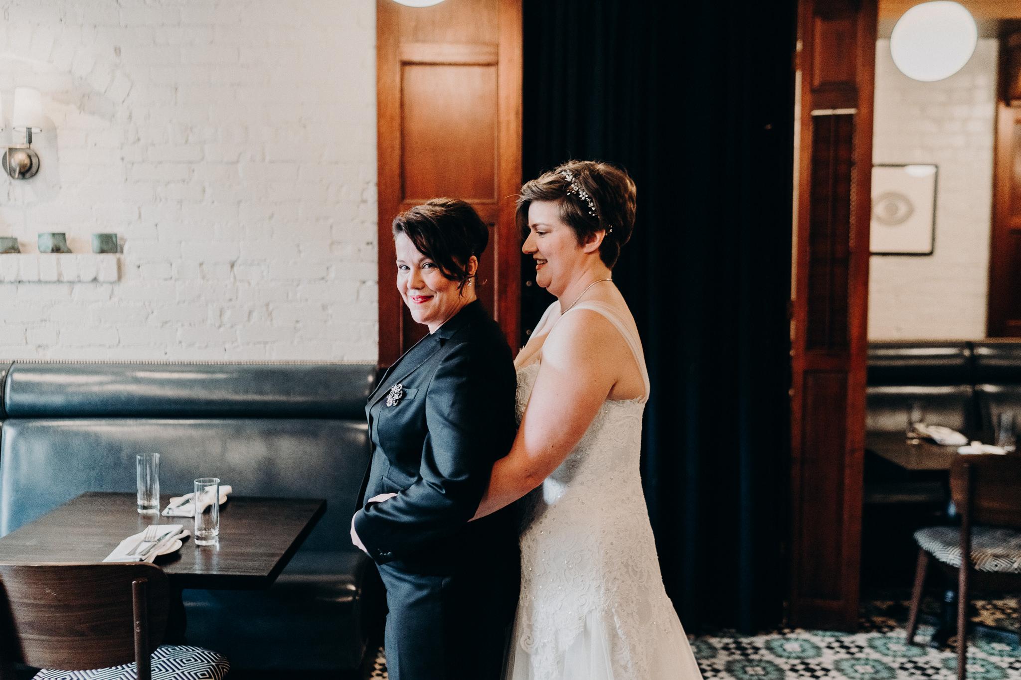 Same Sex First Look LGBQT Wedding Photographer