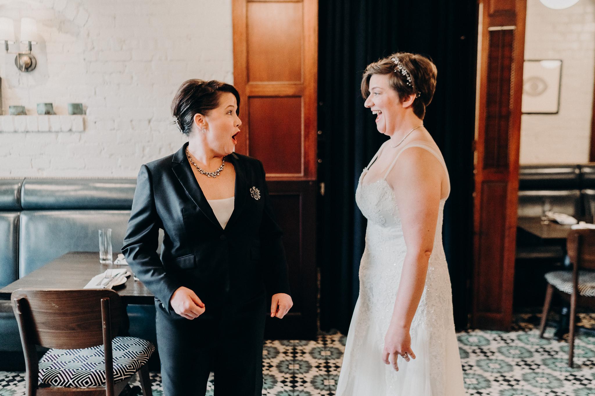 Cafe Sorrento Seattle Lesbian Brides