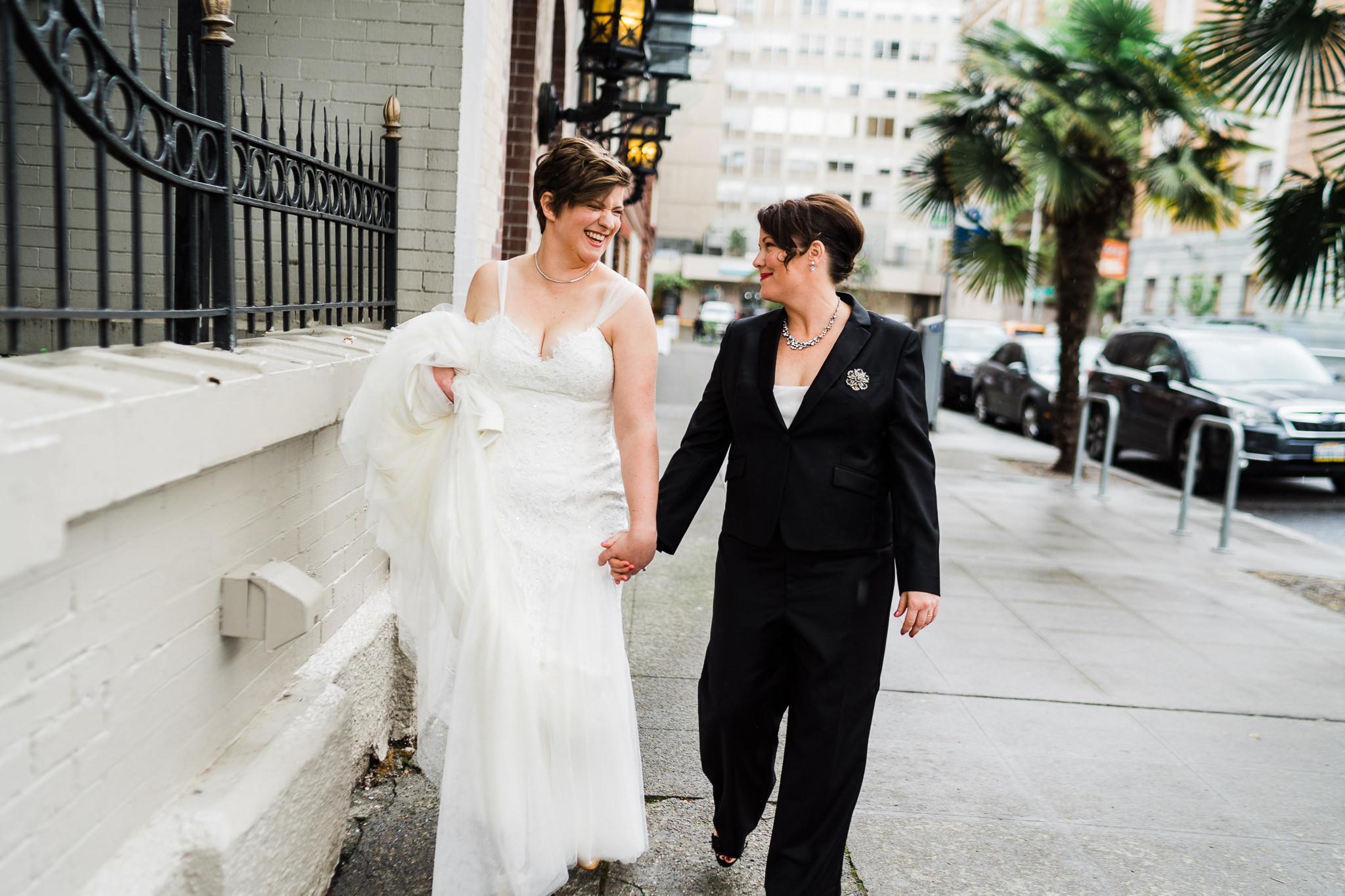 Streets Seattle Lesbian Wedding