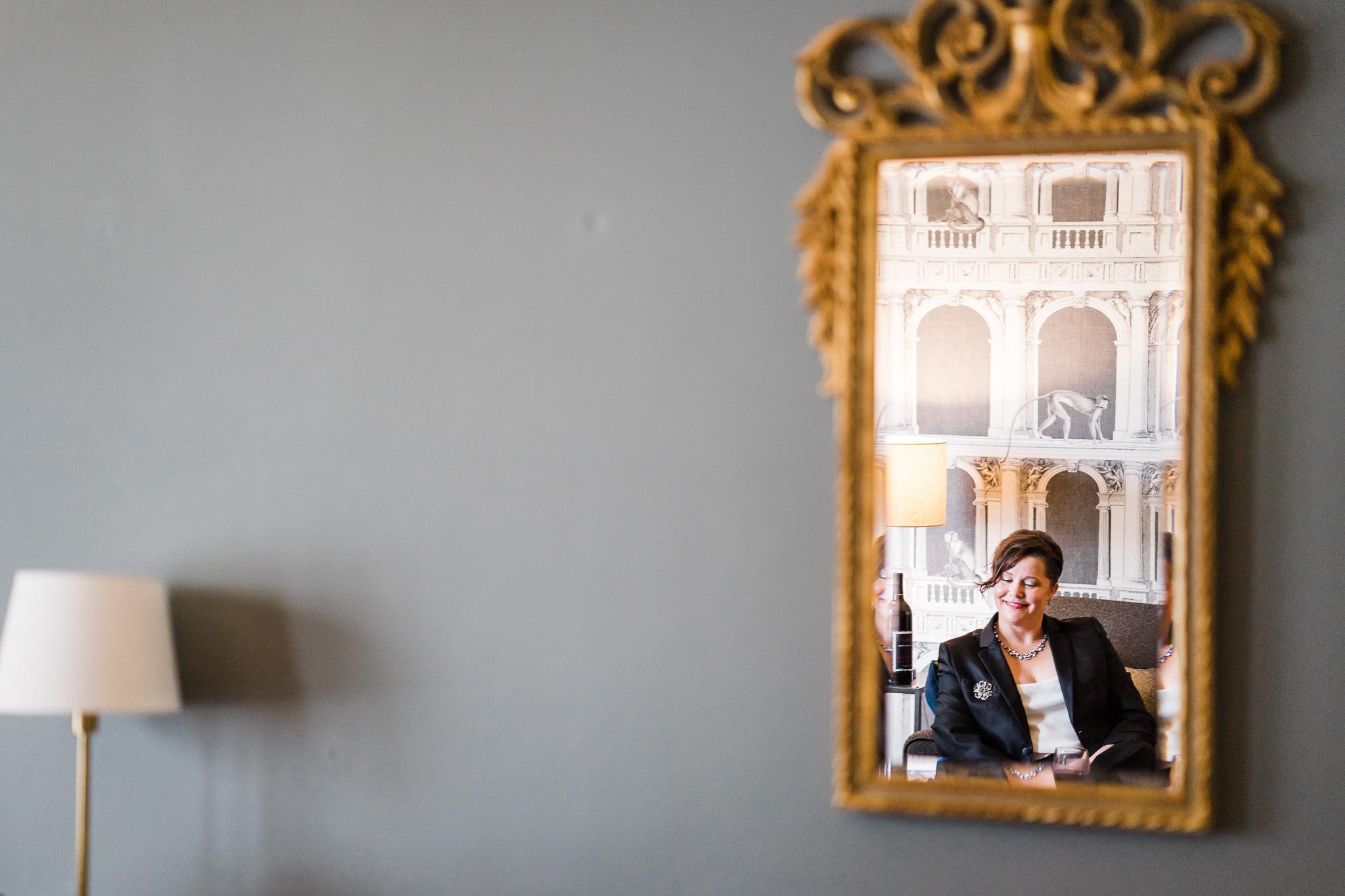 Mirror Reflection Seattle Wedding