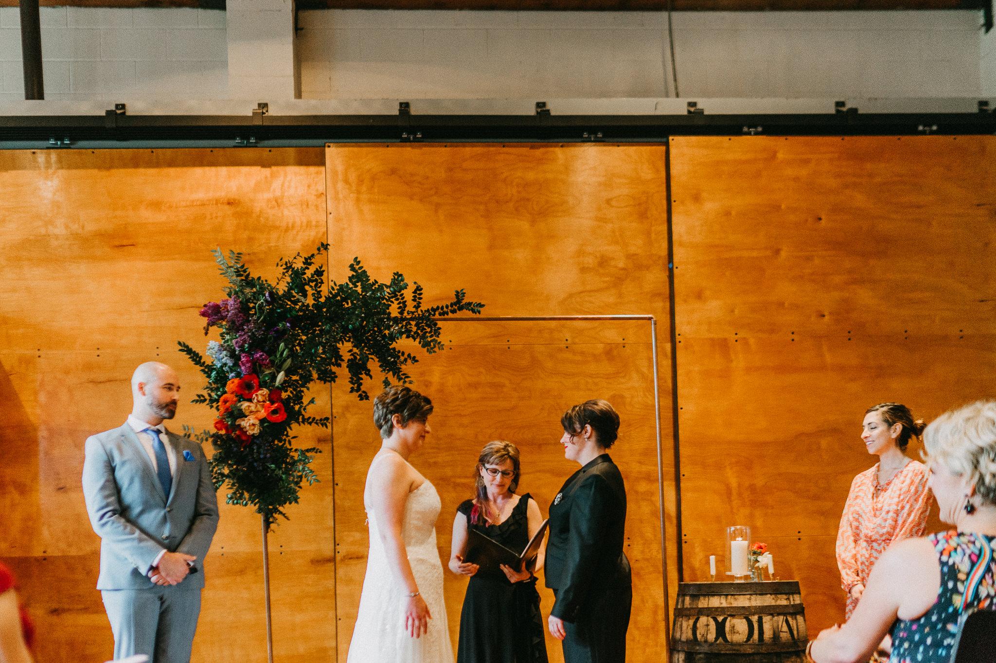 !0 Degrees Seattle Wedding Venue Same Sex