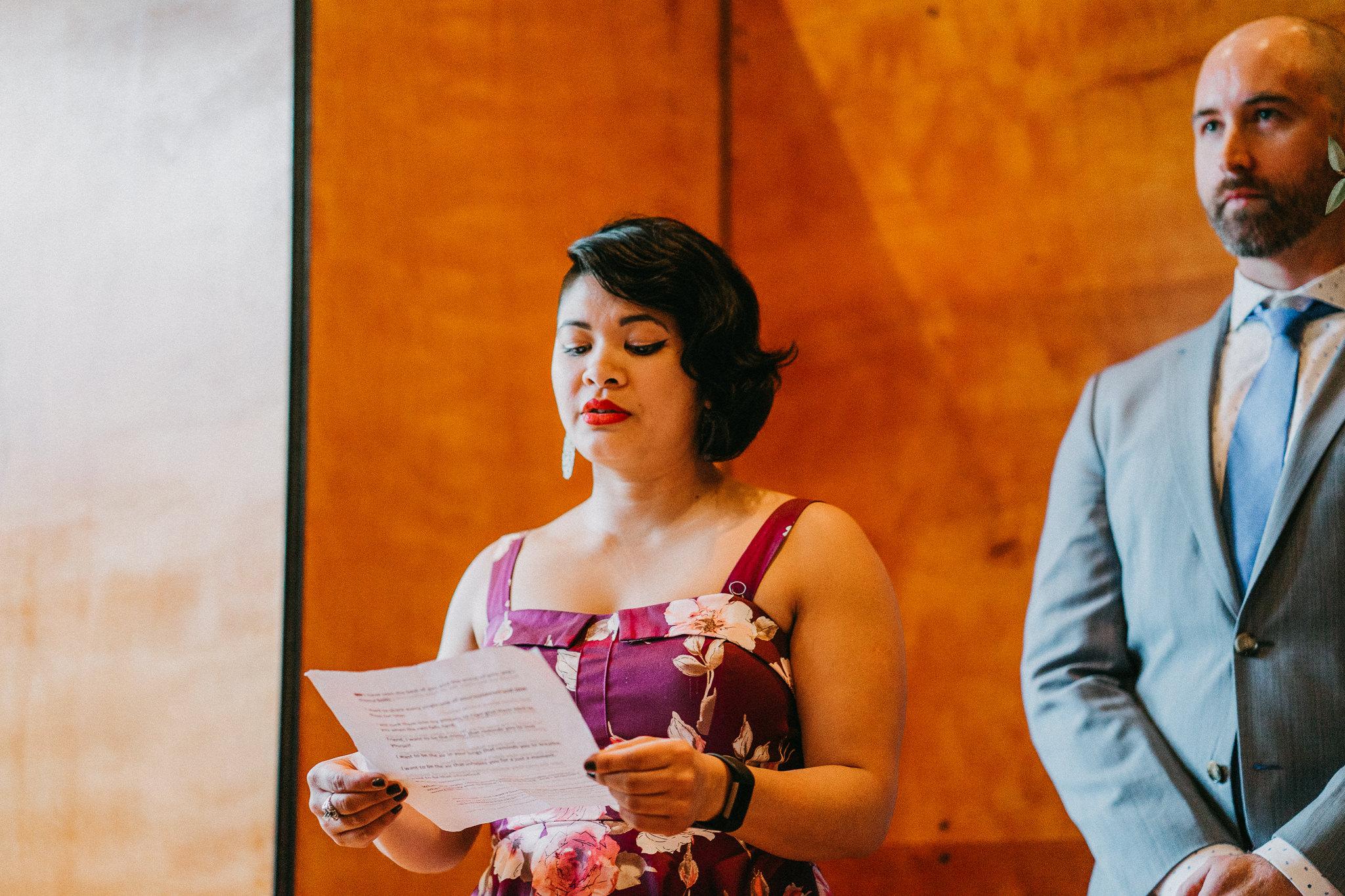 Wedding Guest Witness speech