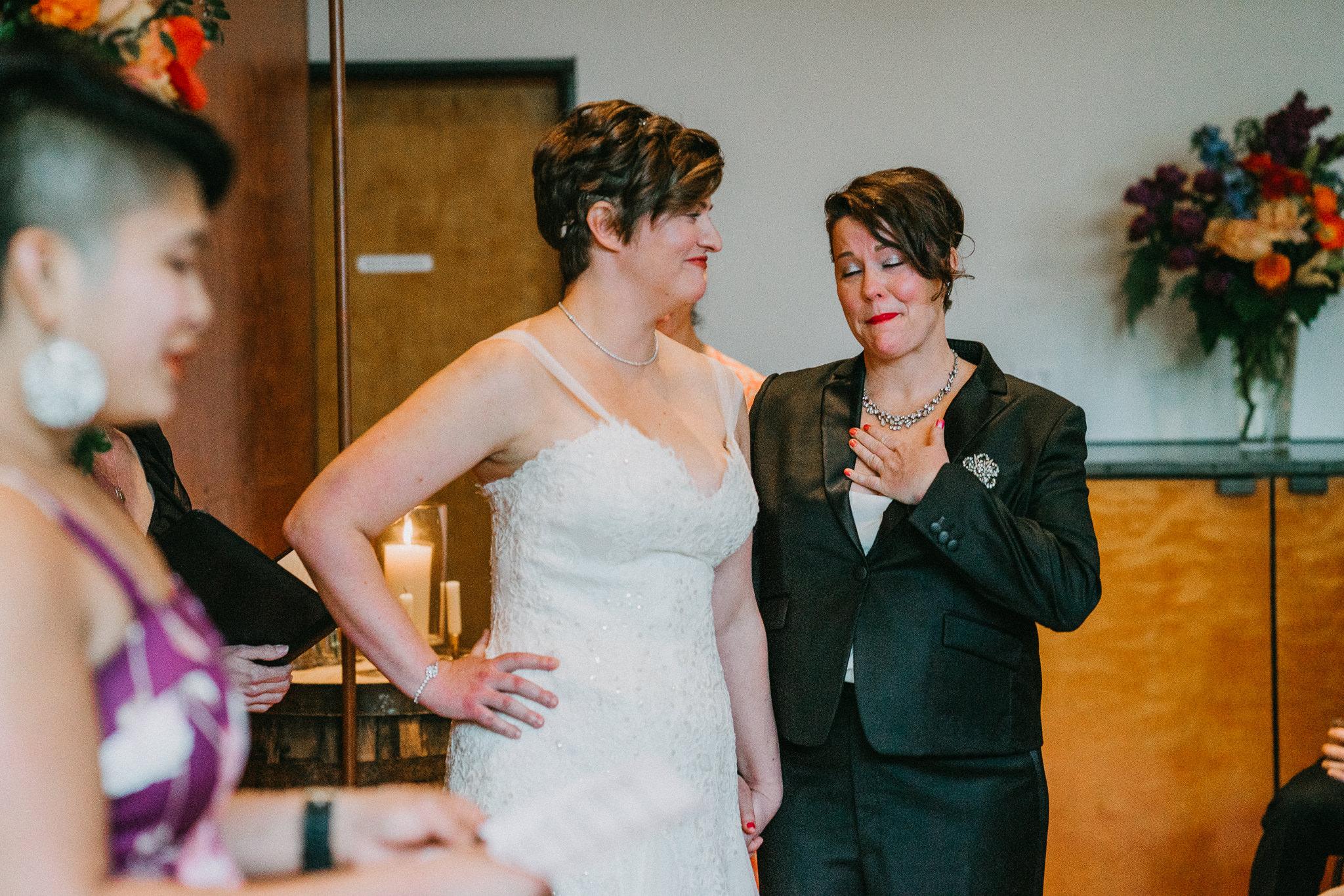 Emotional Bride Lesbian 10 Degrees Seattle