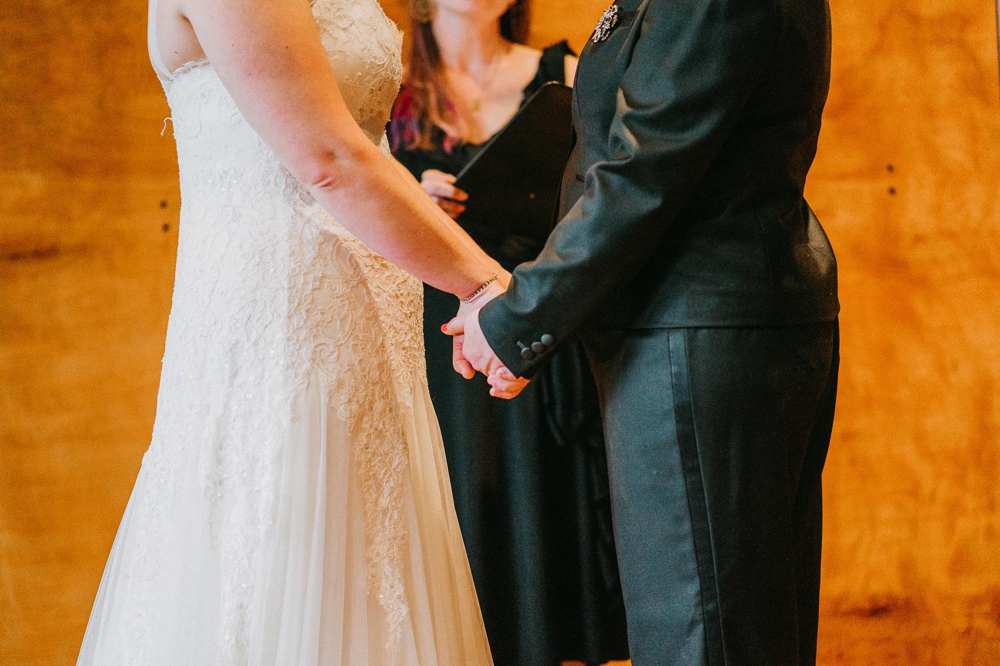 Hands Holding Seattle LGBQT Wedding