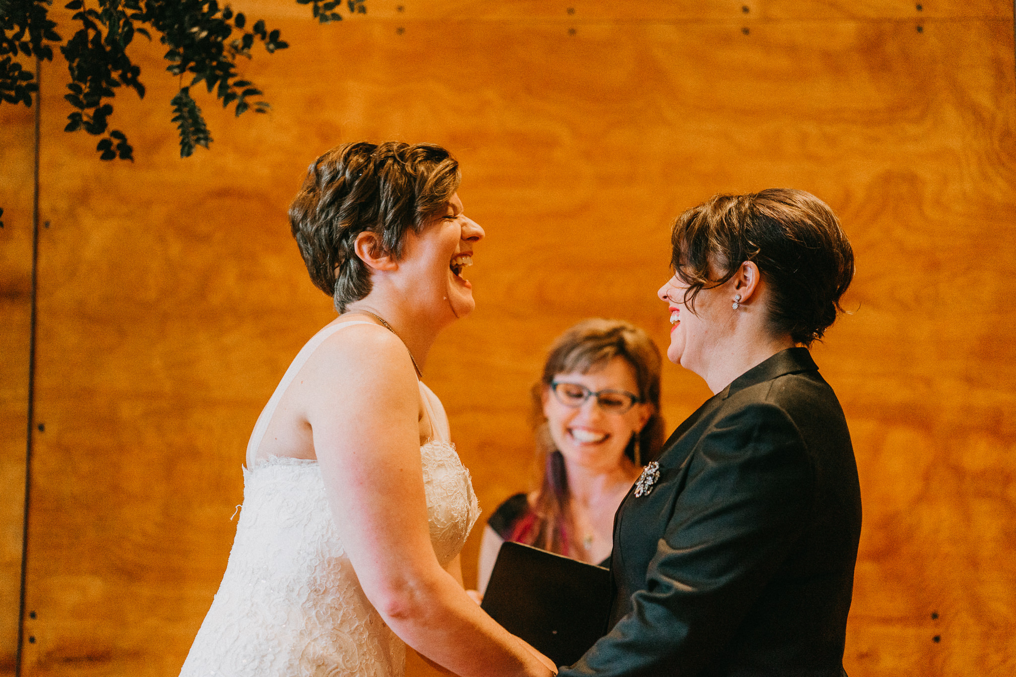 Smiling Laughing Happy Bride Same Sex