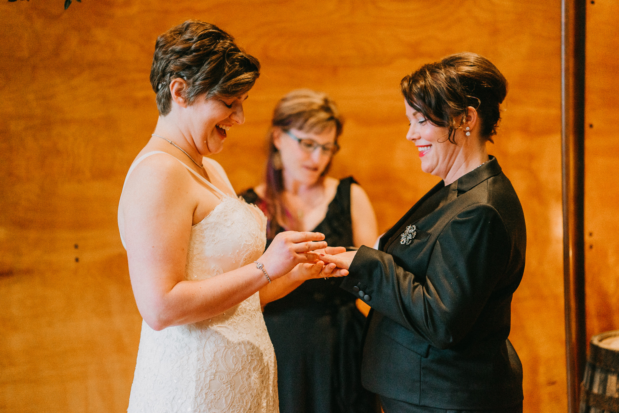 Putting Wedding Ring Lesbian Alfred Tang Photography