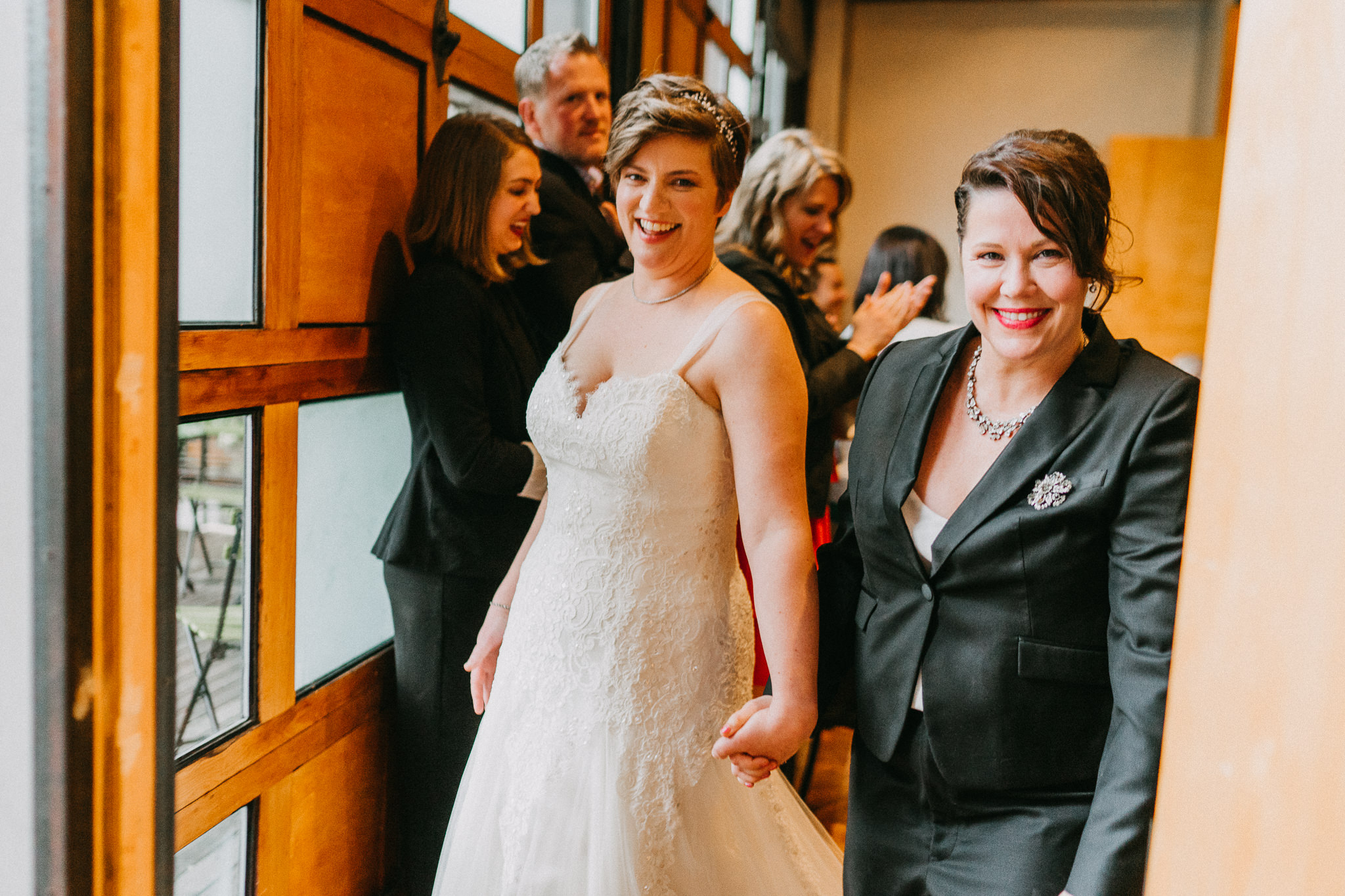 Married lesbians wedding photography
