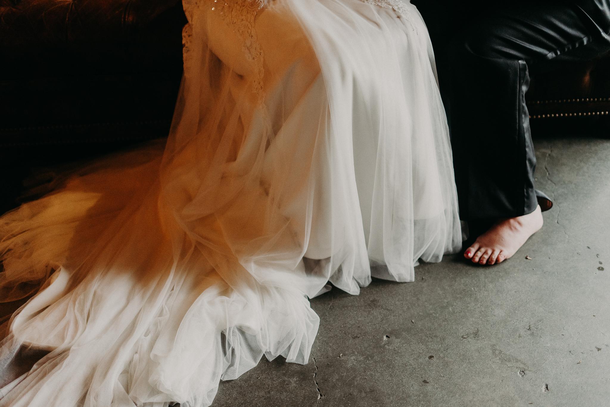 Dress Gown Pant Suit Wedding Feet