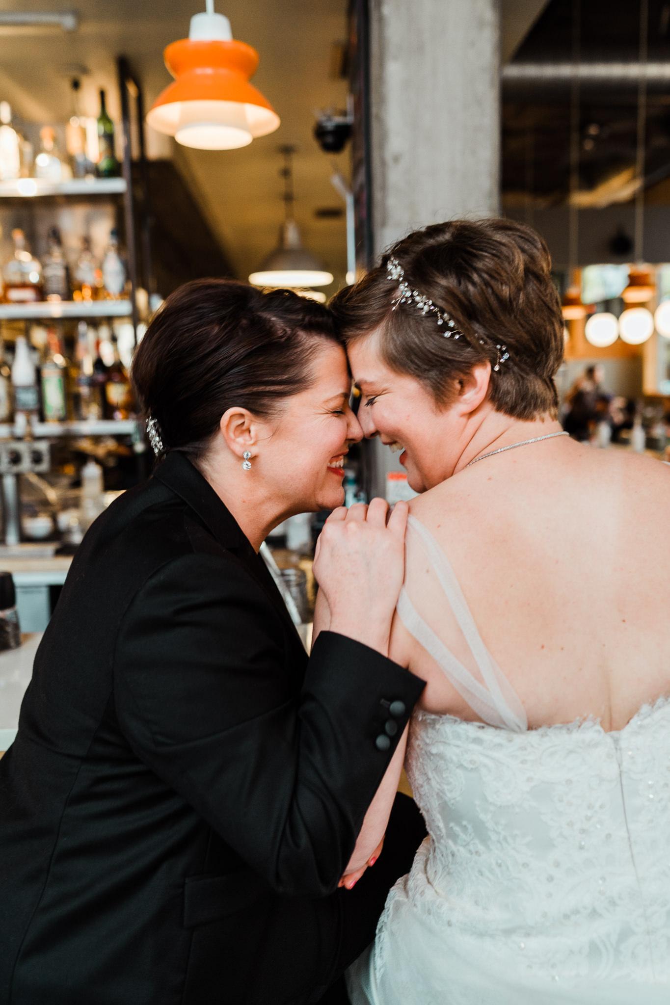 Bride Same Sex Portrait Forehead touching