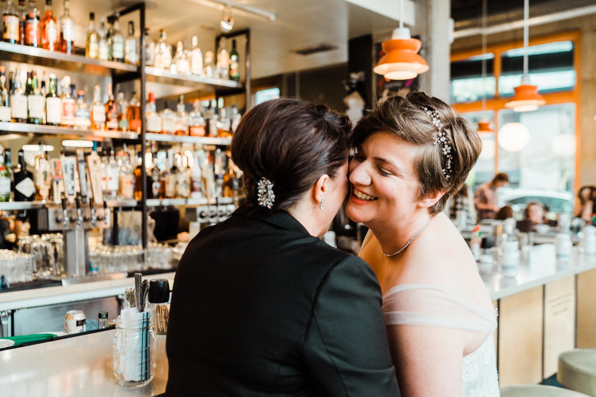 Skillet Diner Lesbian Wedding