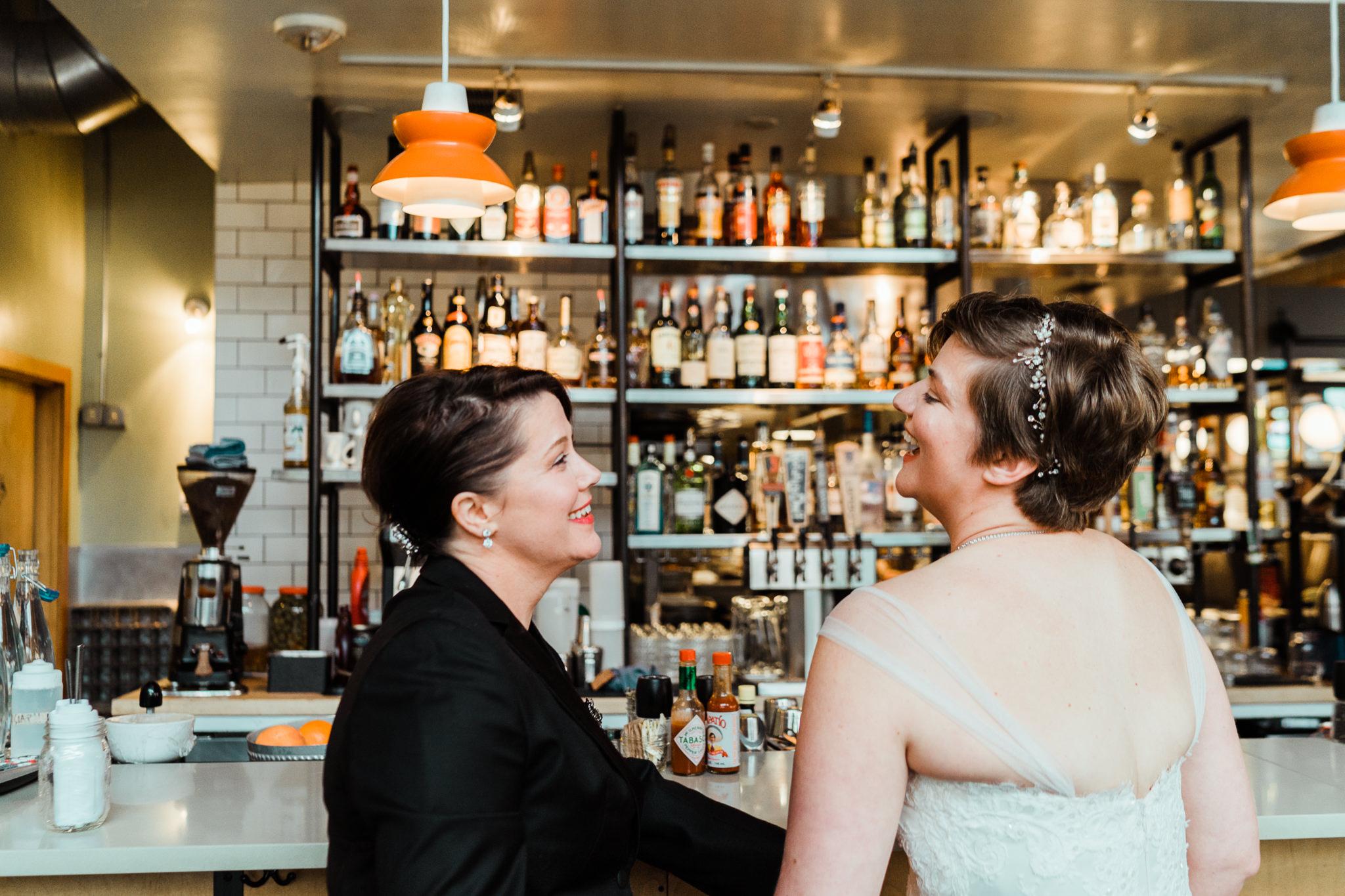 Laughing Brides Skillet Diner Seattle Wedding