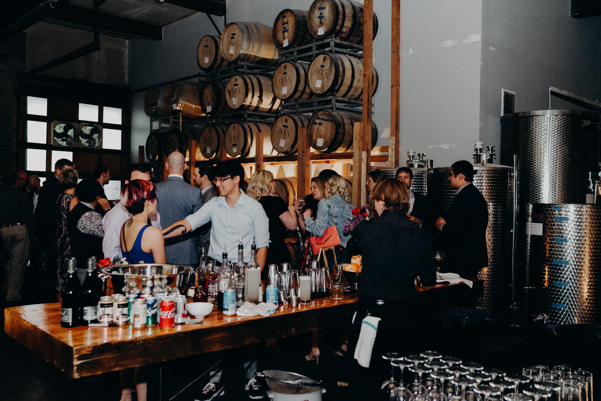 OOLA Distillery Wedding Reception