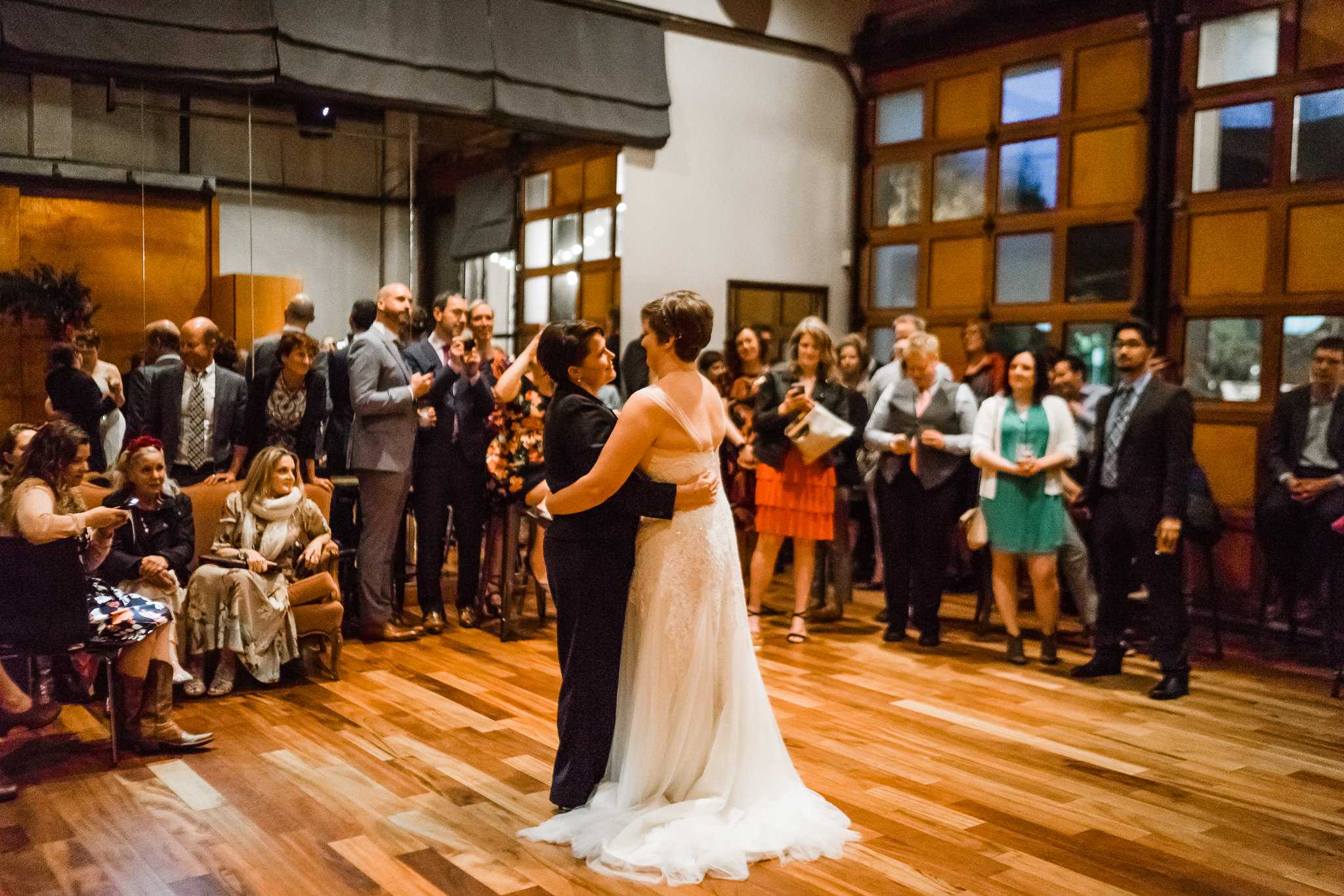 First Lesbian Dance Wedding 10 Degrees Wedding Venue