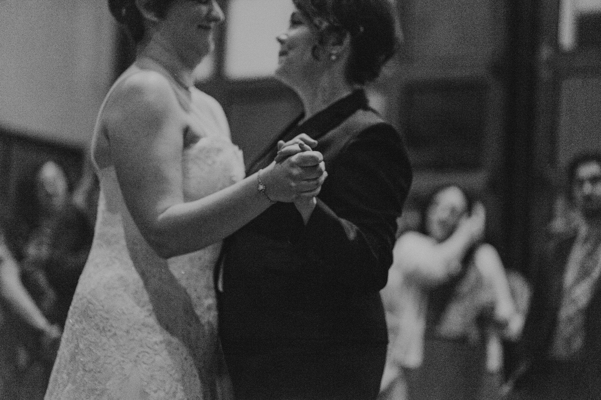 Black White Bridal Portrait Seattle Indoor Venue photographer Low Light