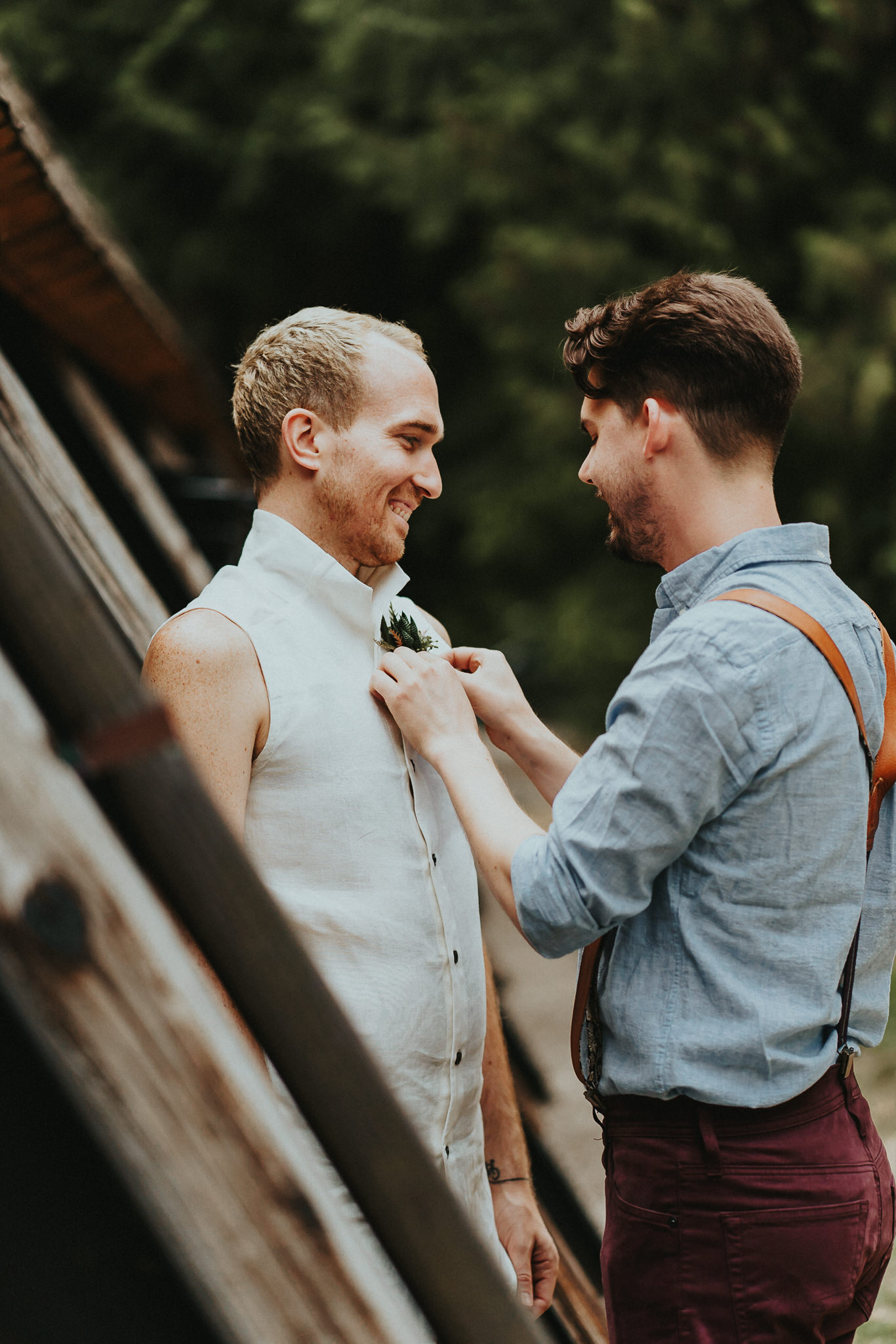 Campground Wedding Same Sex